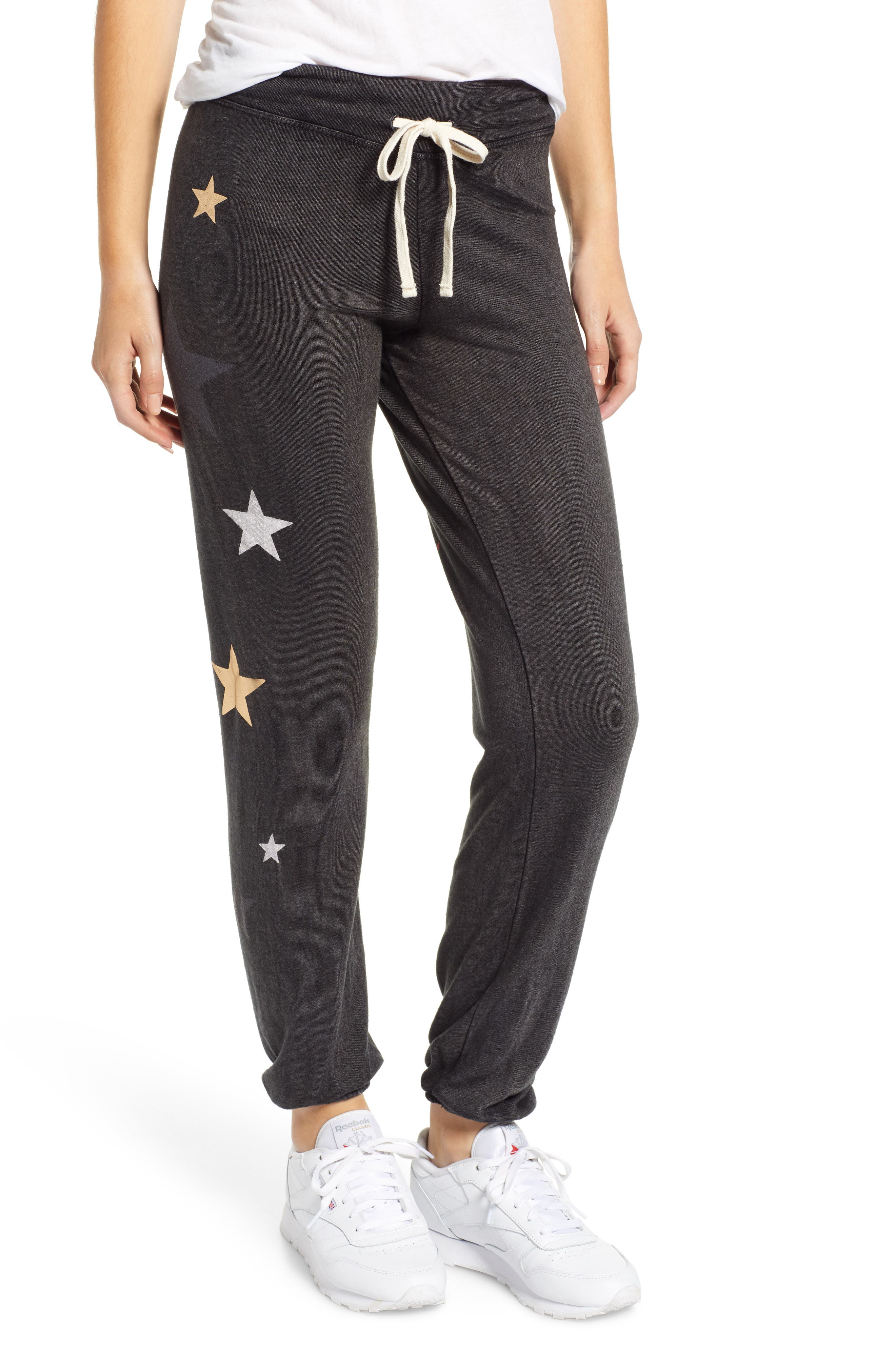 Stars Sweatpants, Main, color, VINTAGE BLACK