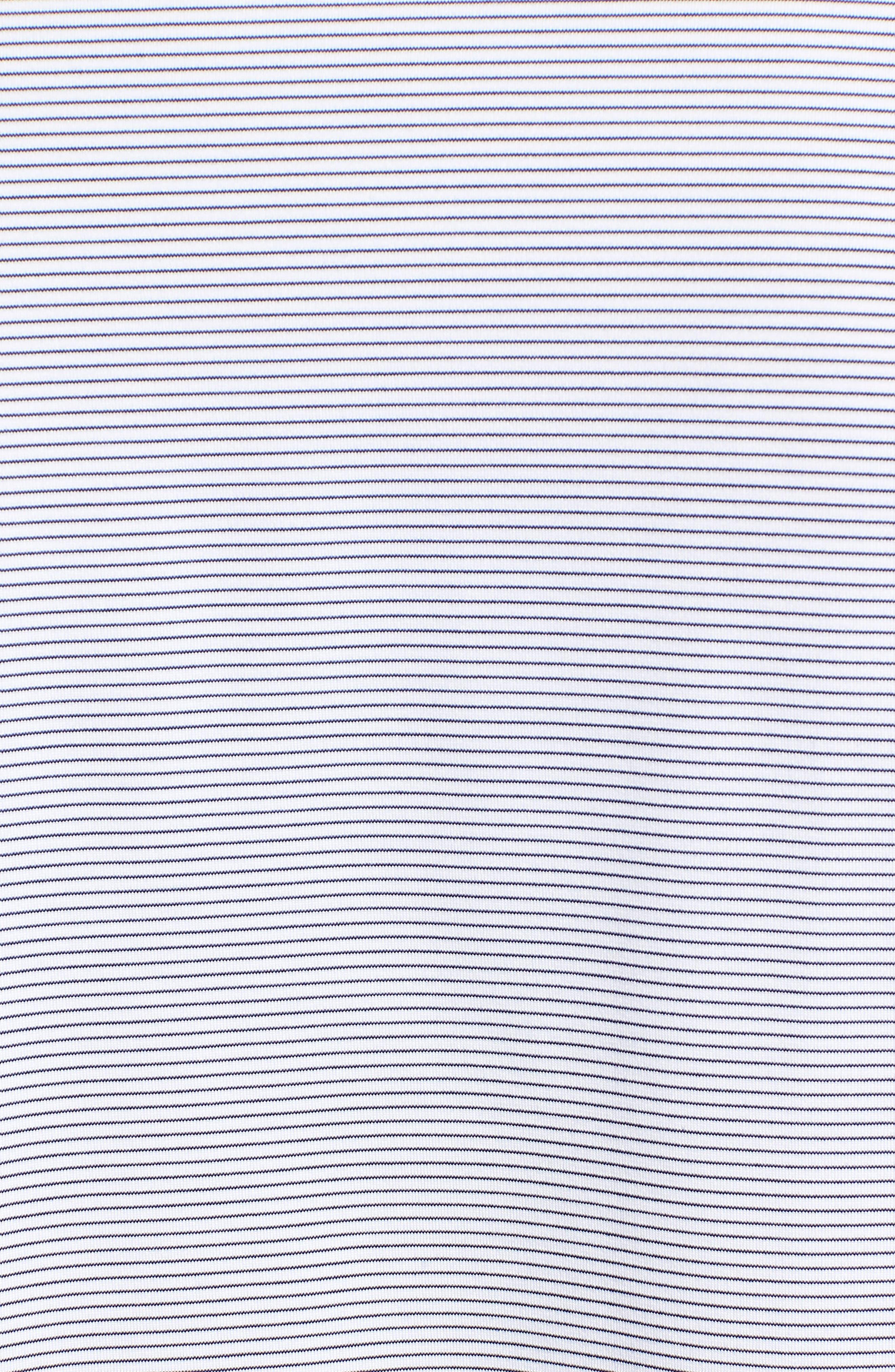 Stripe Long Sleeve Regular Fit Polo,                             Alternate thumbnail 5, color,                             100