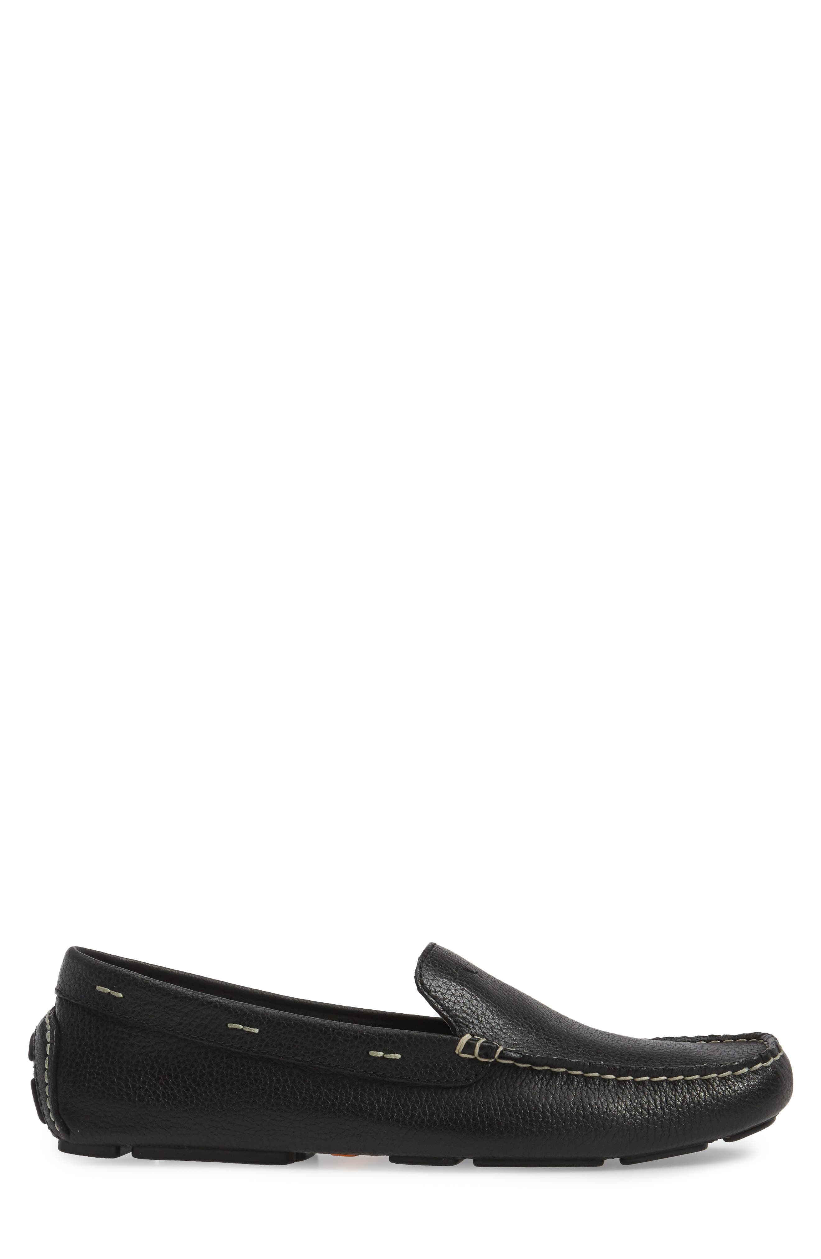 Pagota Driving Loafer,                             Alternate thumbnail 3, color,                             BLACK LEATHER