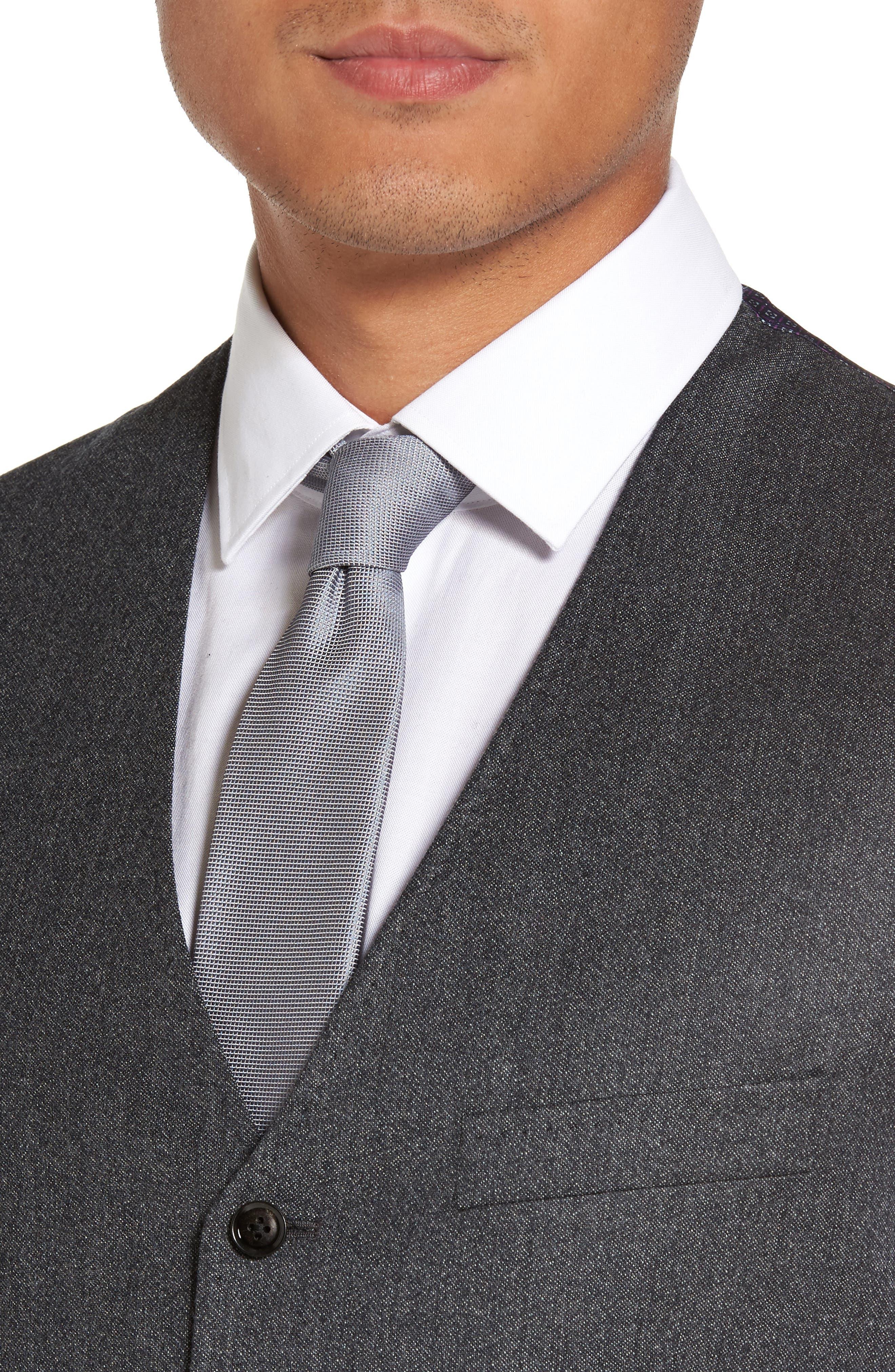 Troy Trim Fit Solid Wool Vest,                             Alternate thumbnail 4, color,                             050