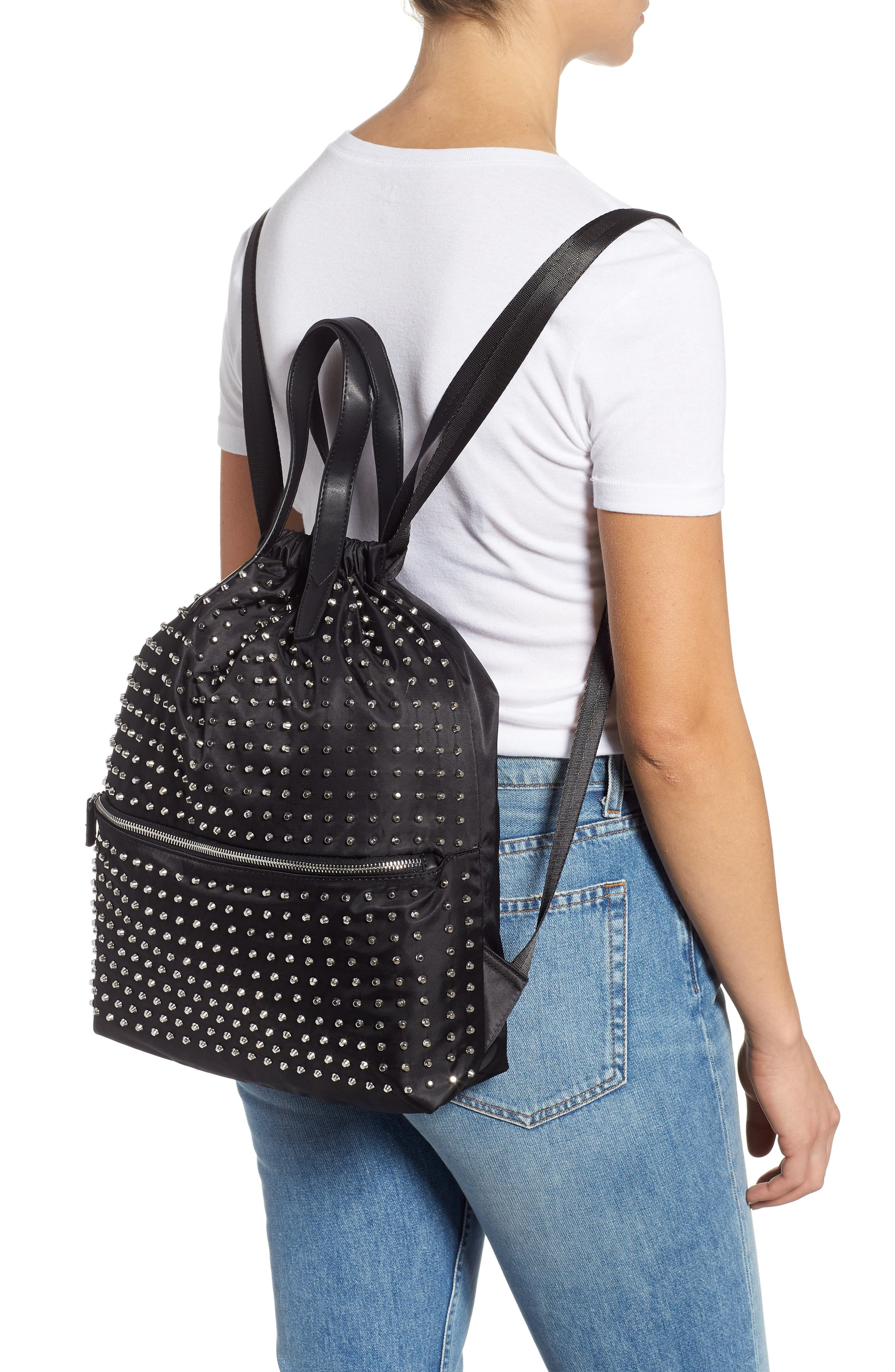 Tokyo Studded Backpack,                             Alternate thumbnail 2, color,                             001