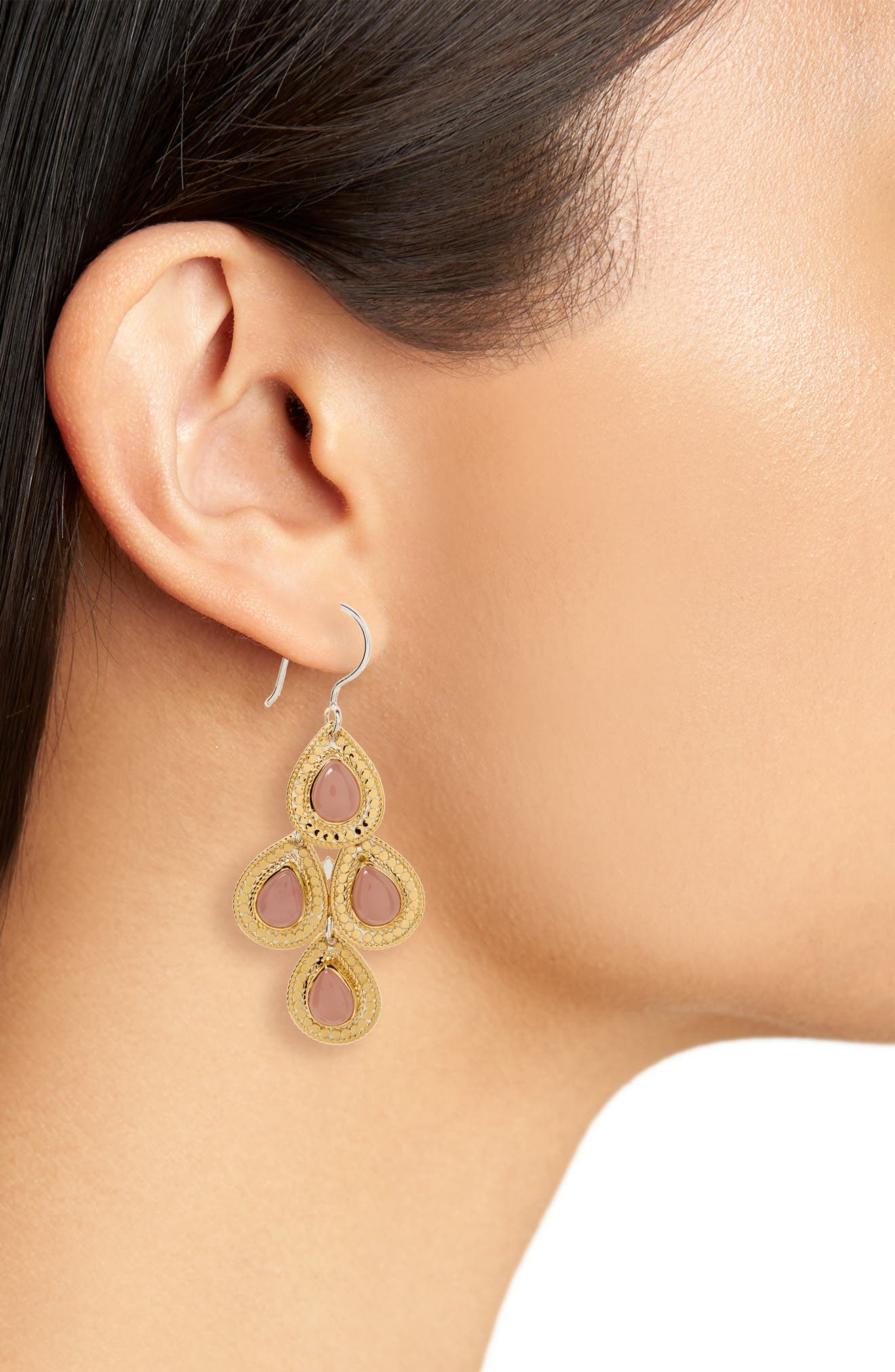 Stone Chandelier Earrings,                             Alternate thumbnail 9, color,