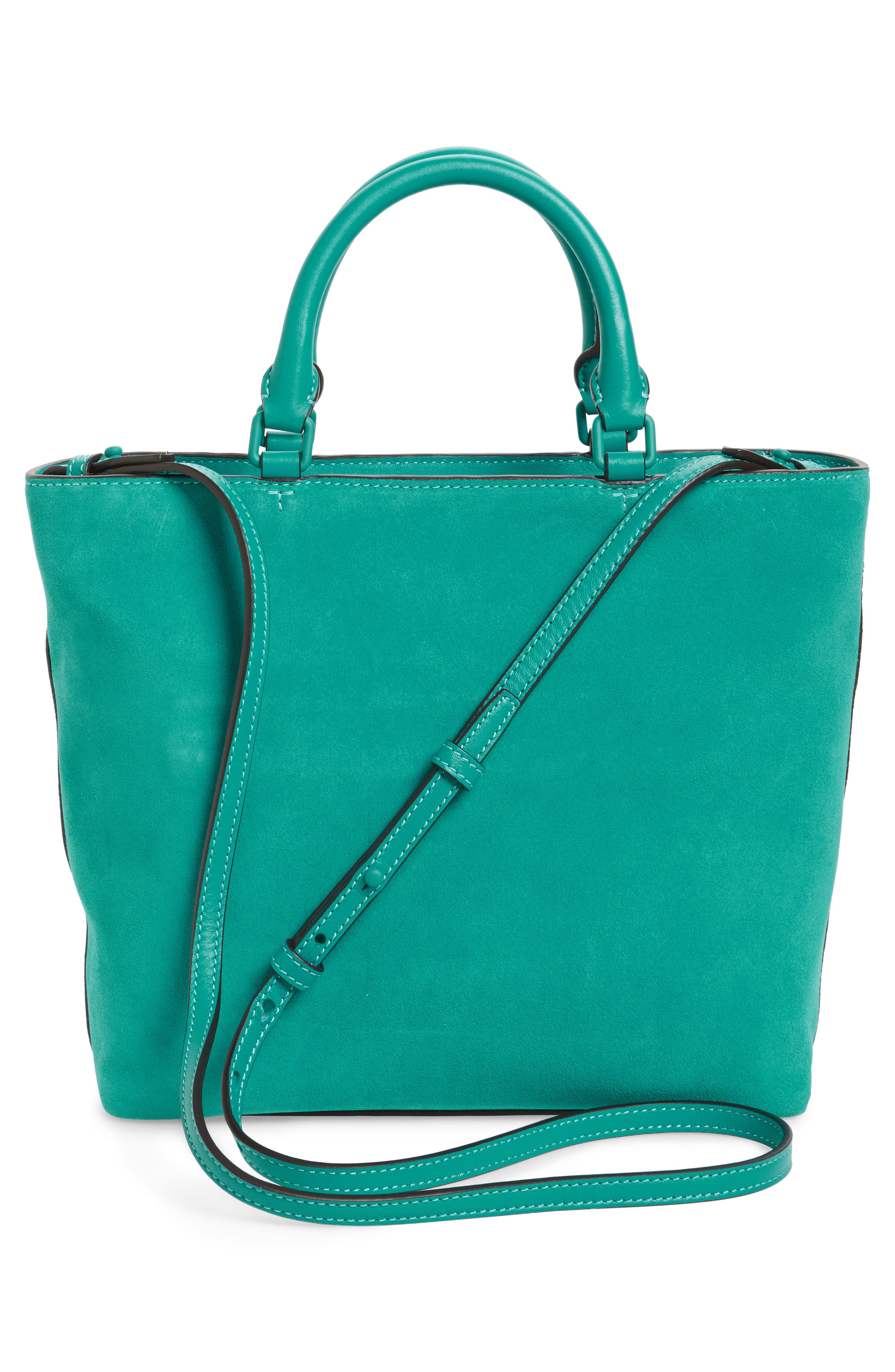 Small Charlie Suede Tote,                             Alternate thumbnail 3, color,                             336