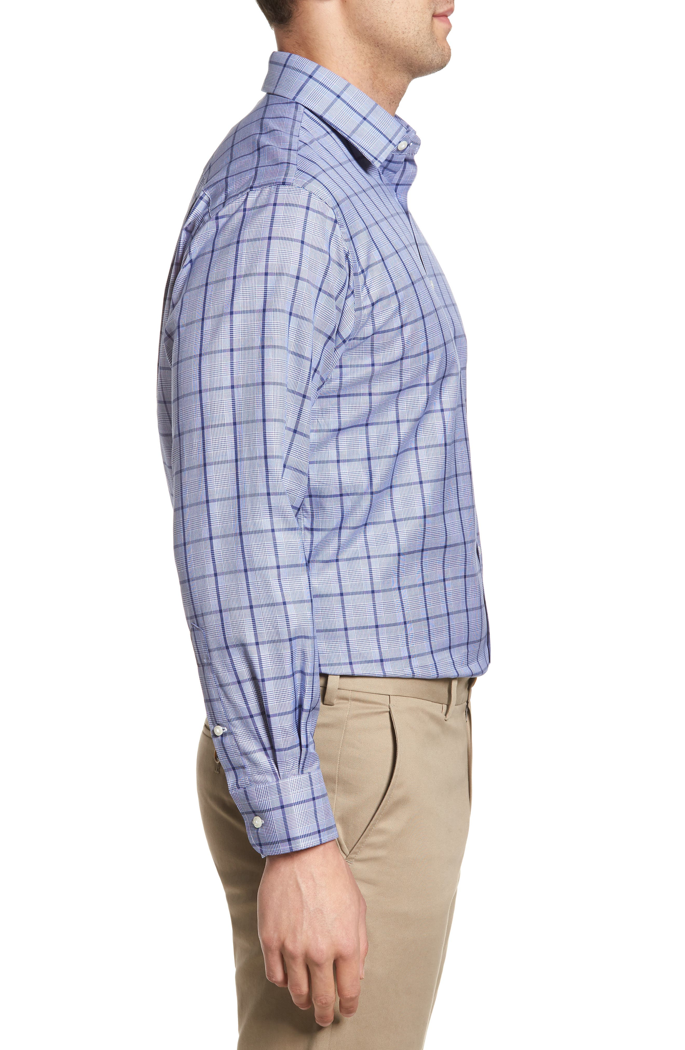 Classic Fit Check Dress Shirt,                             Alternate thumbnail 4, color,                             420