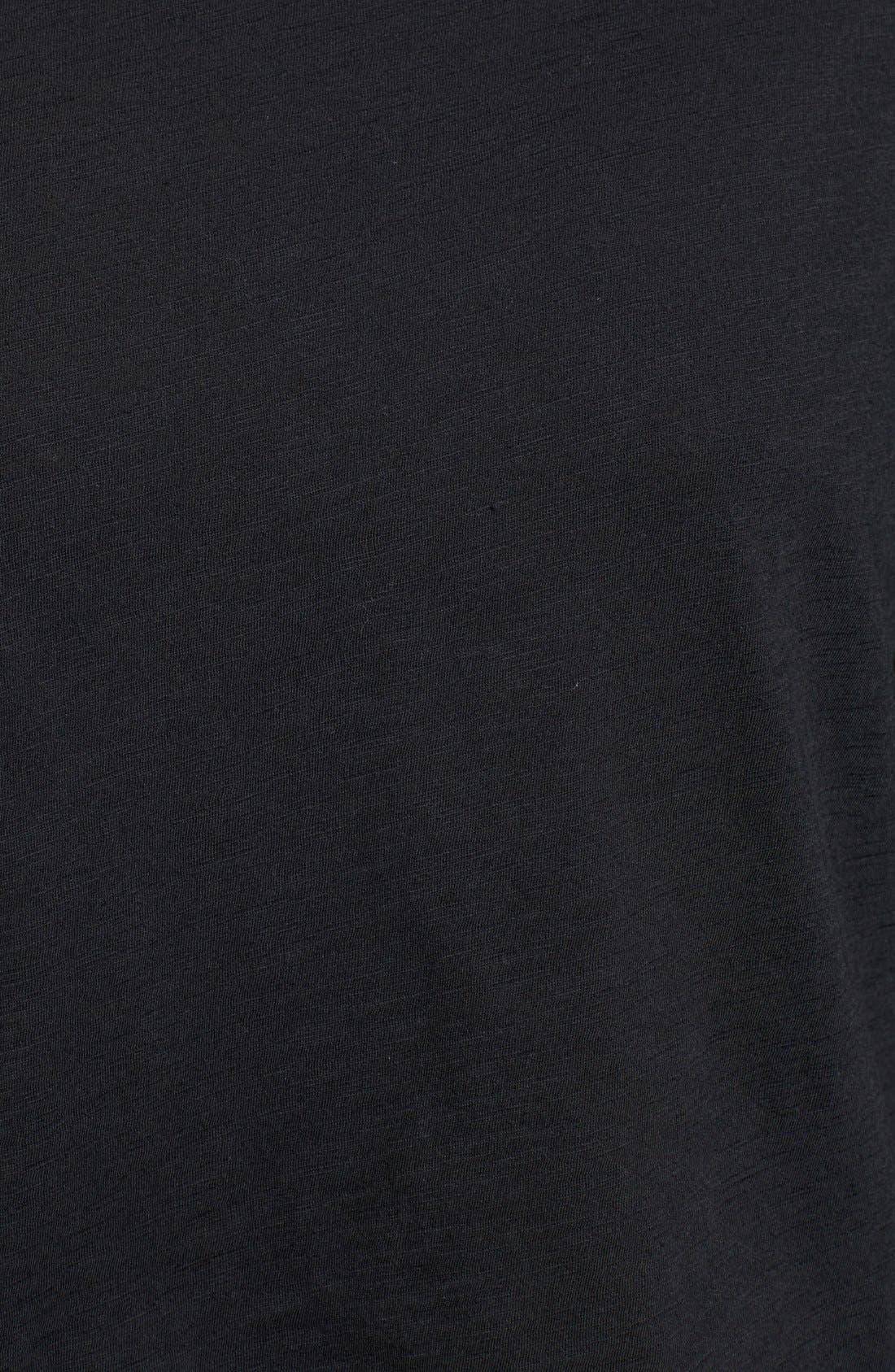 Whisper Cotton Turtleneck Top,                             Alternate thumbnail 5, color,                             TRUE BLACK