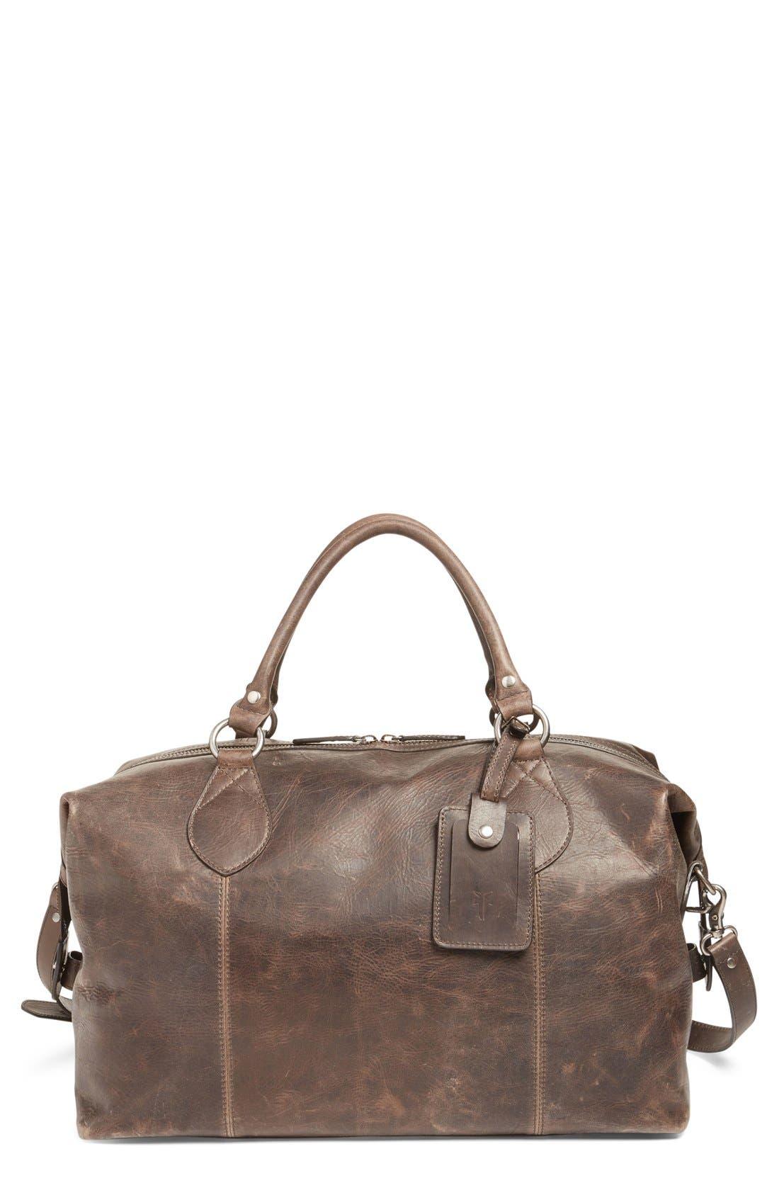'Logan' Leather Overnight Bag,                             Main thumbnail 2, color,