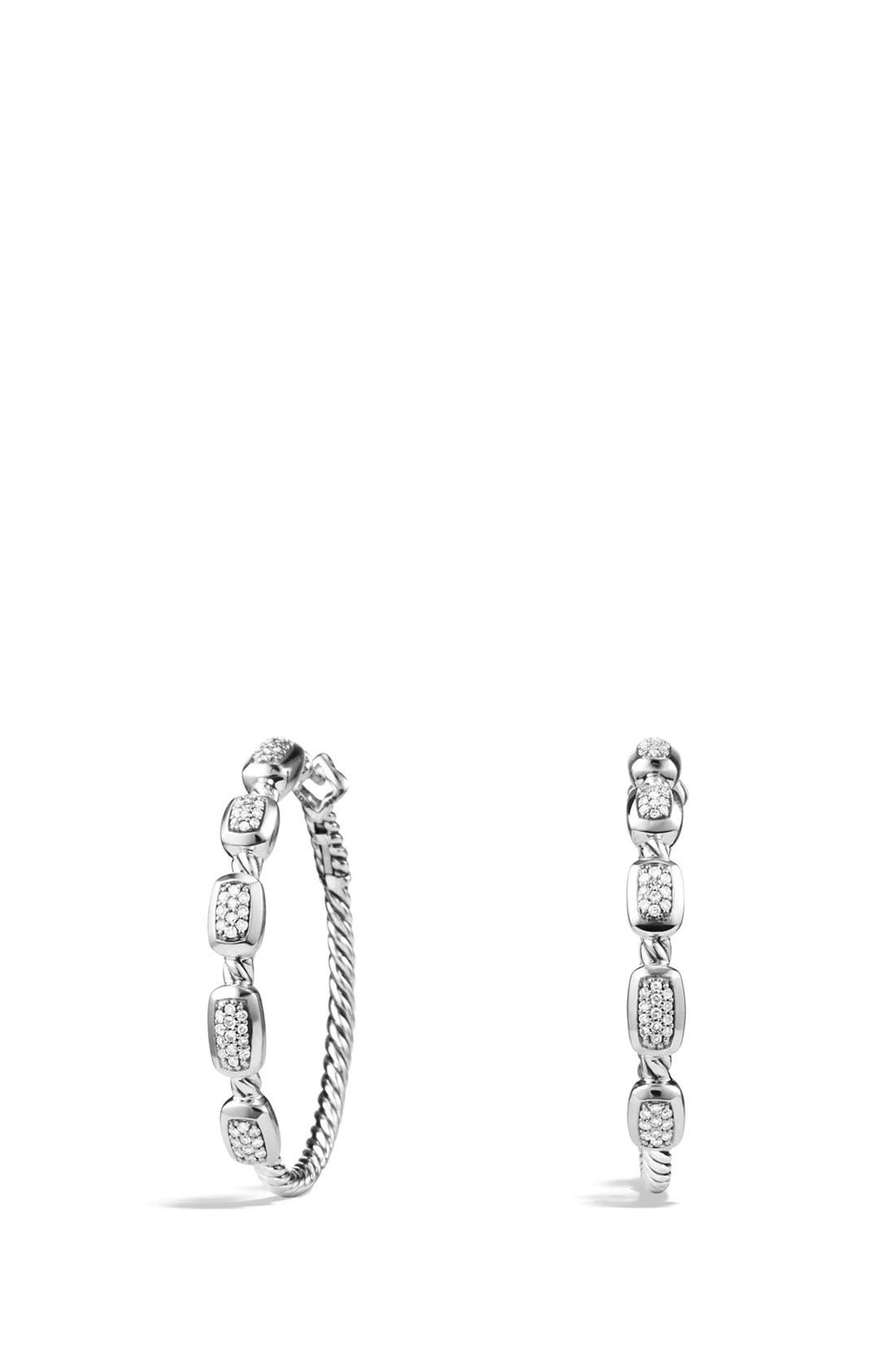 'Confetti' Hoop Earrings with Diamonds,                         Main,                         color, 040