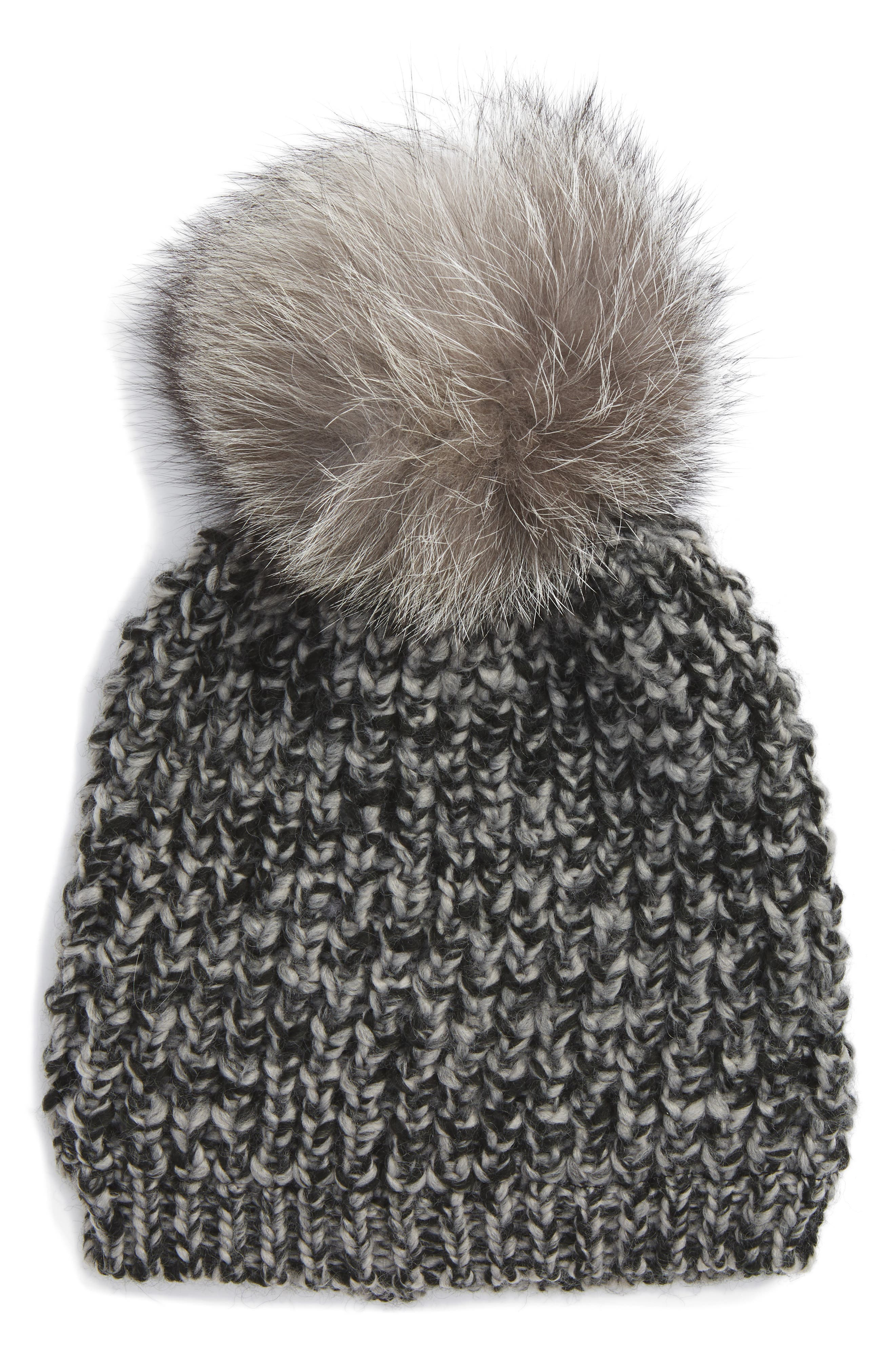 Genuine Fox Pompom Hat,                             Alternate thumbnail 18, color,