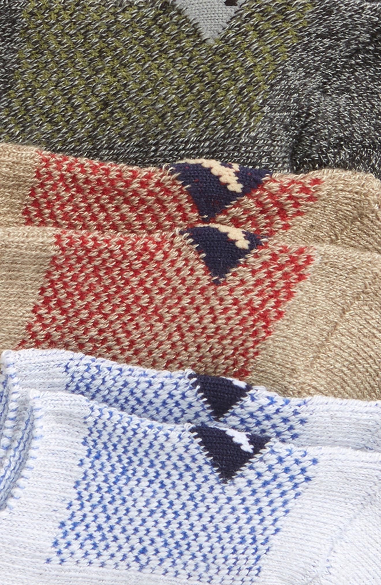Assorted 3-Pack Liner Socks,                             Alternate thumbnail 2, color,                             GREY MARL ASSORTED