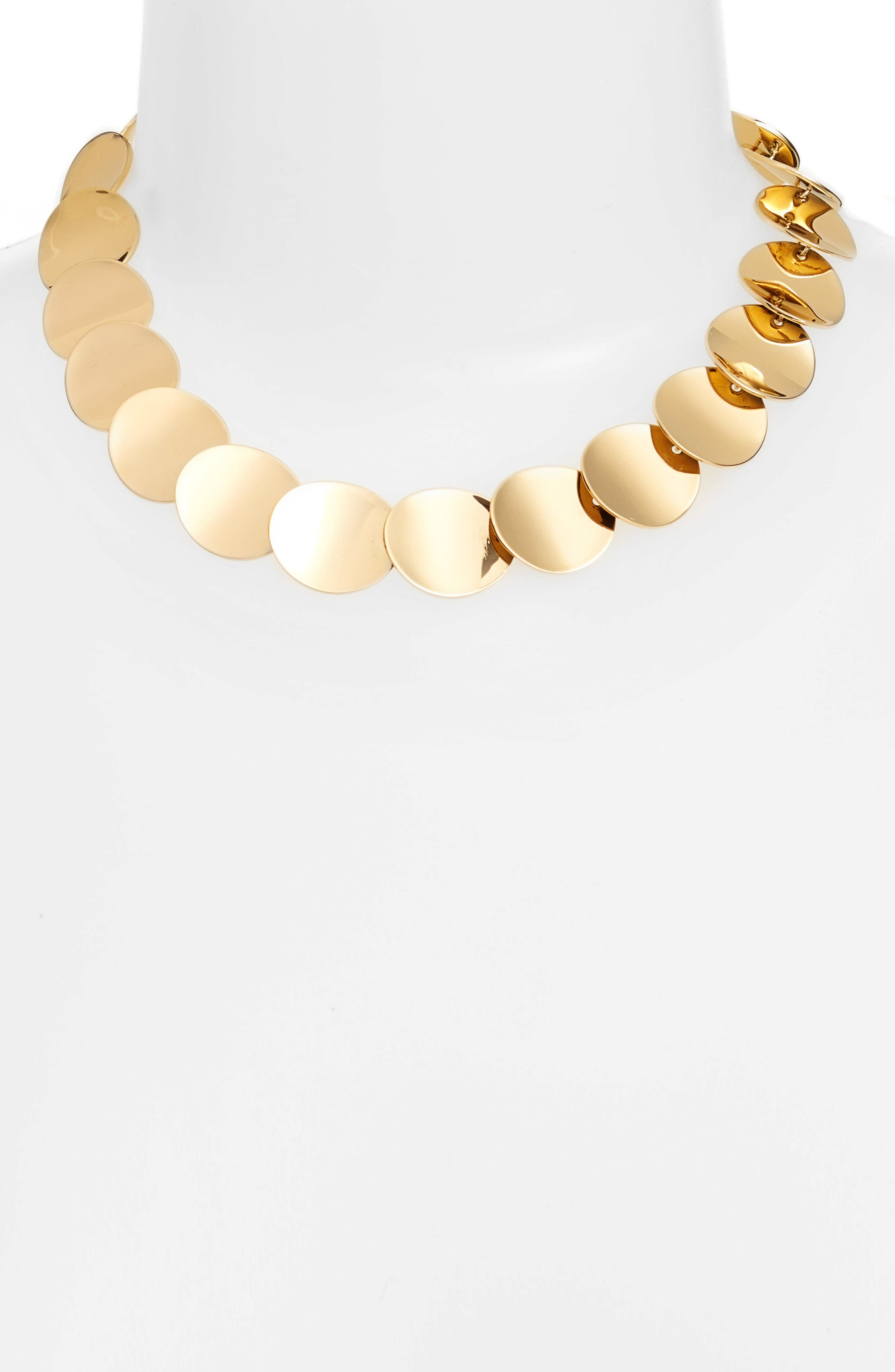 gold standard crew necklace,                             Alternate thumbnail 2, color,                             711