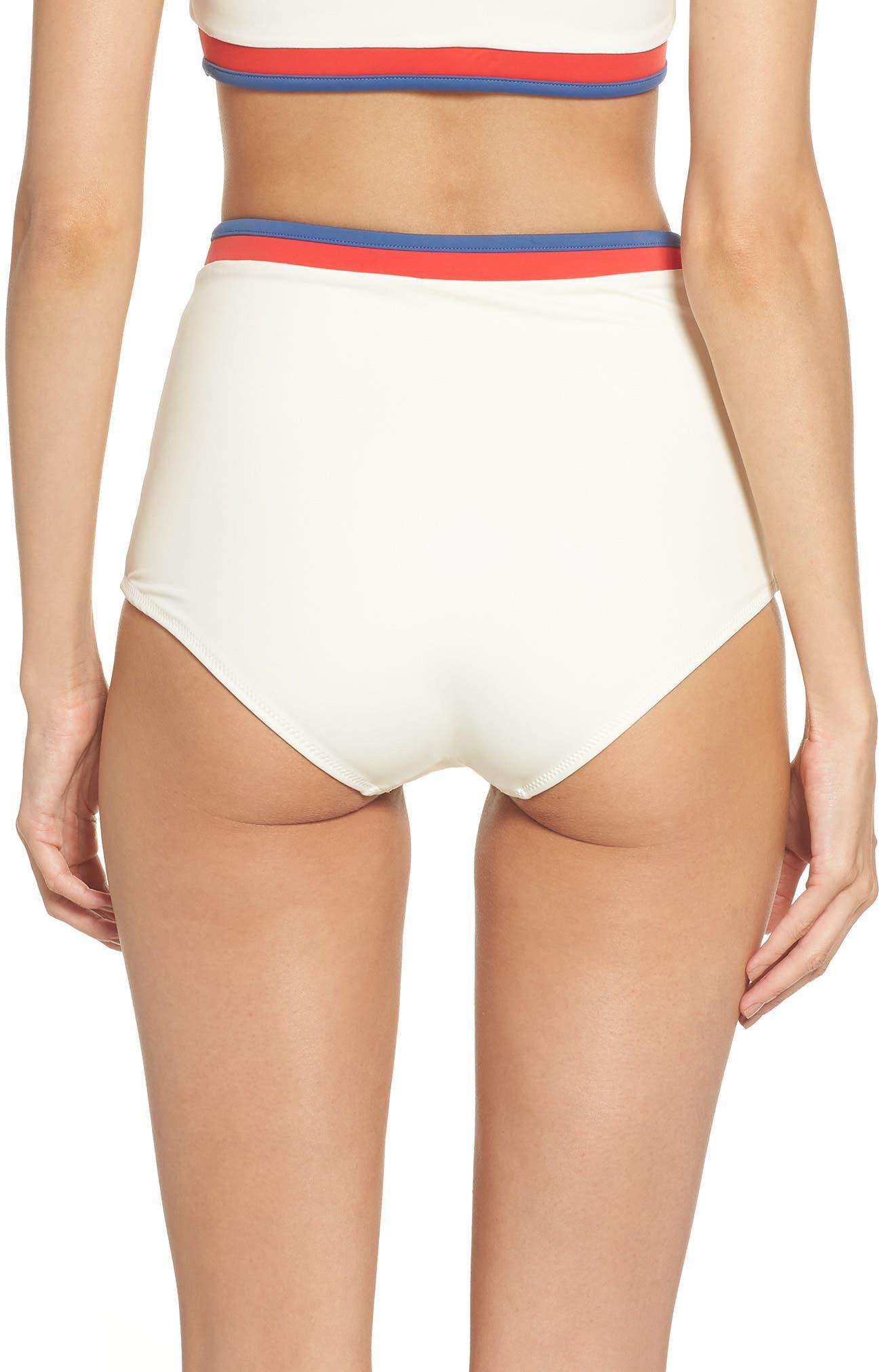 Solid & Stripe Katie High Waist Bikini Bottoms,                             Alternate thumbnail 2, color,                             900