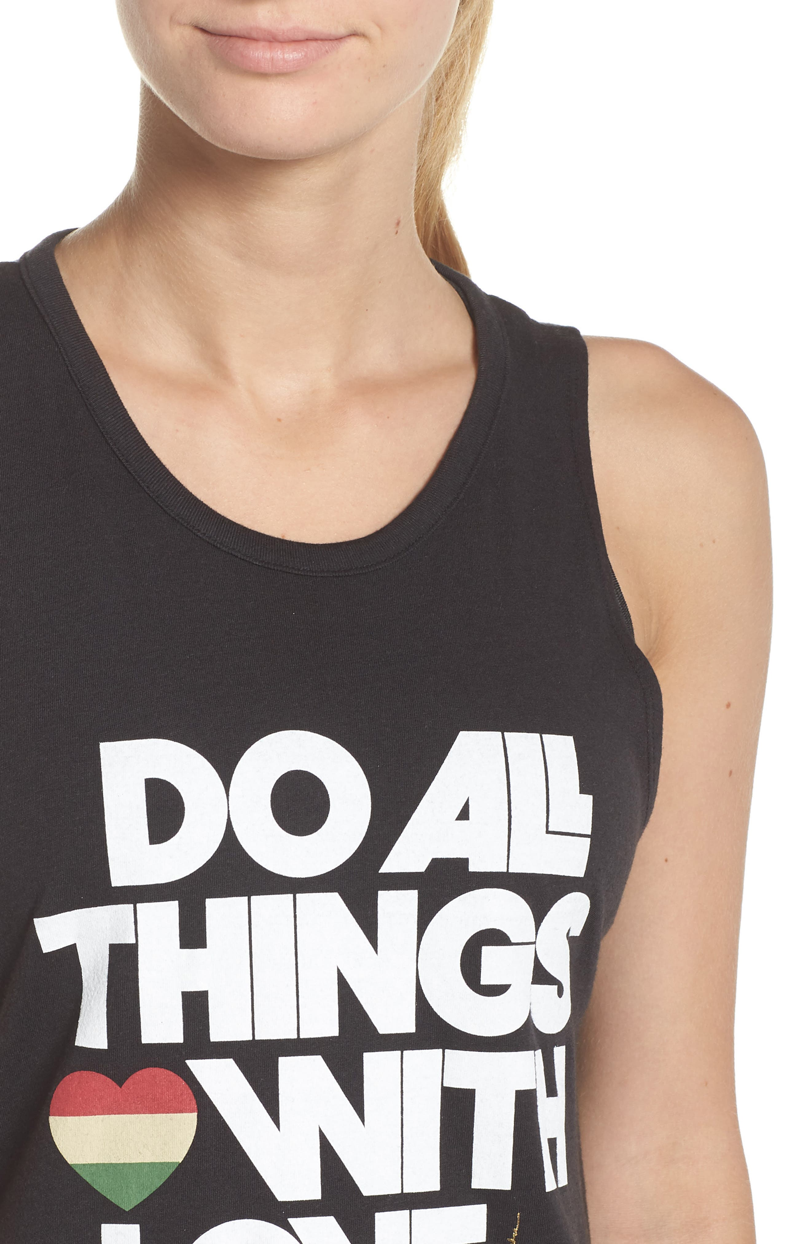 Do All Things with Love Open Back Tank,                             Alternate thumbnail 4, color,                             003