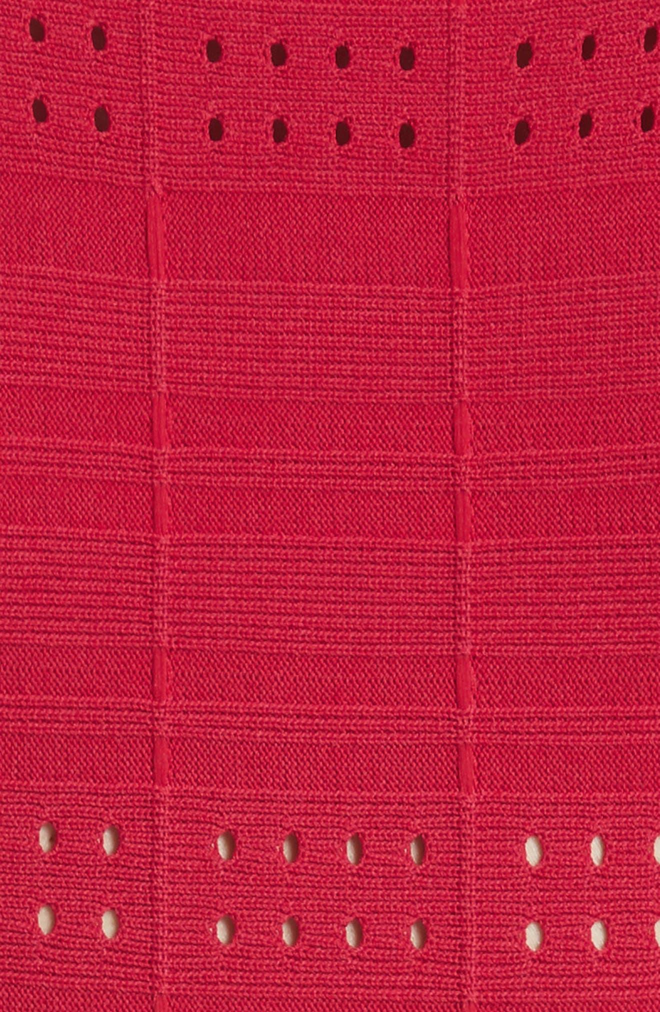 Scallop Trim Knit Dress,                             Alternate thumbnail 6, color,