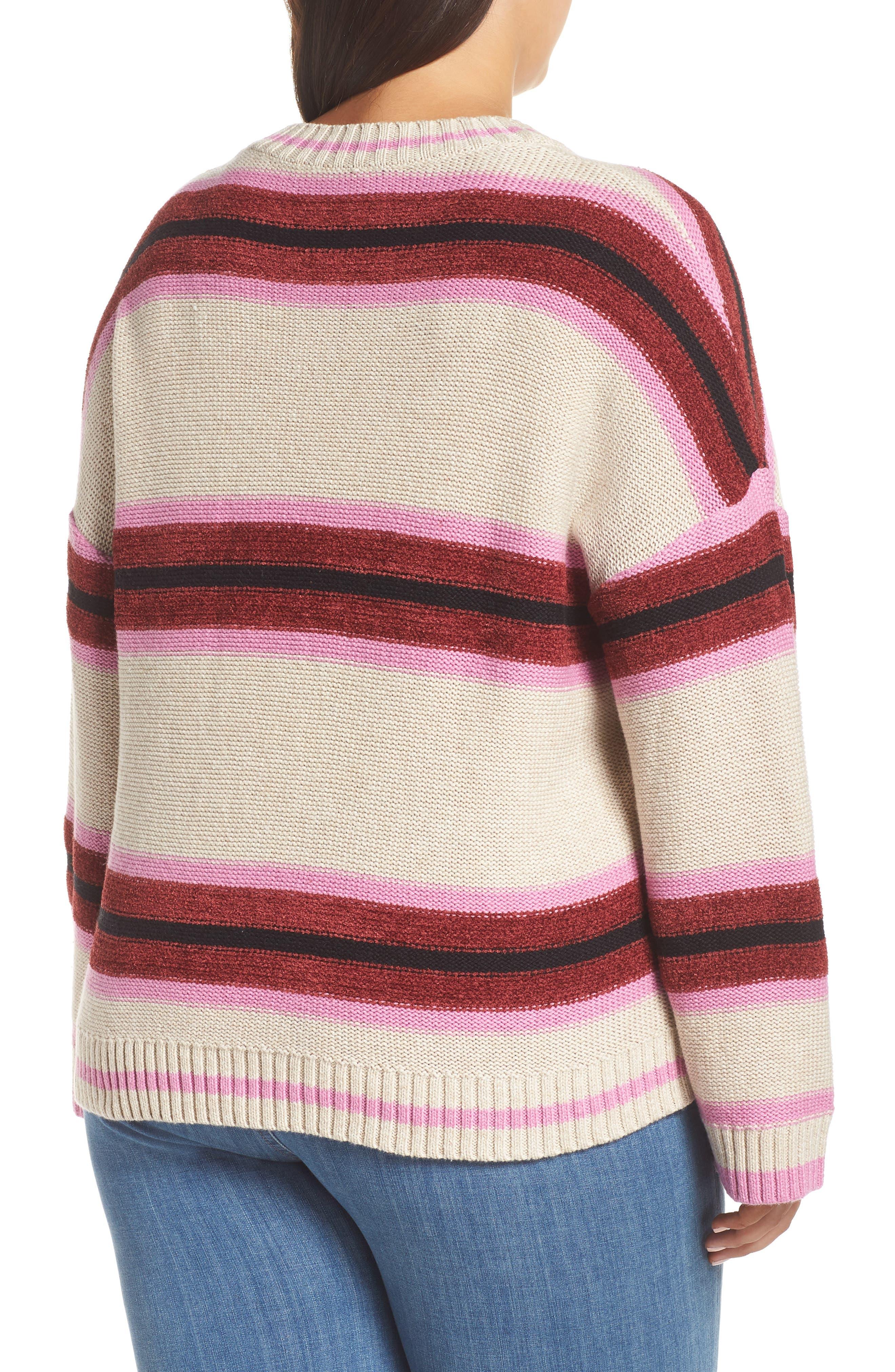 Everyday Stripe Sweater,                             Alternate thumbnail 2, color,                             BEIGE HEATHER ROBYN STRIPE
