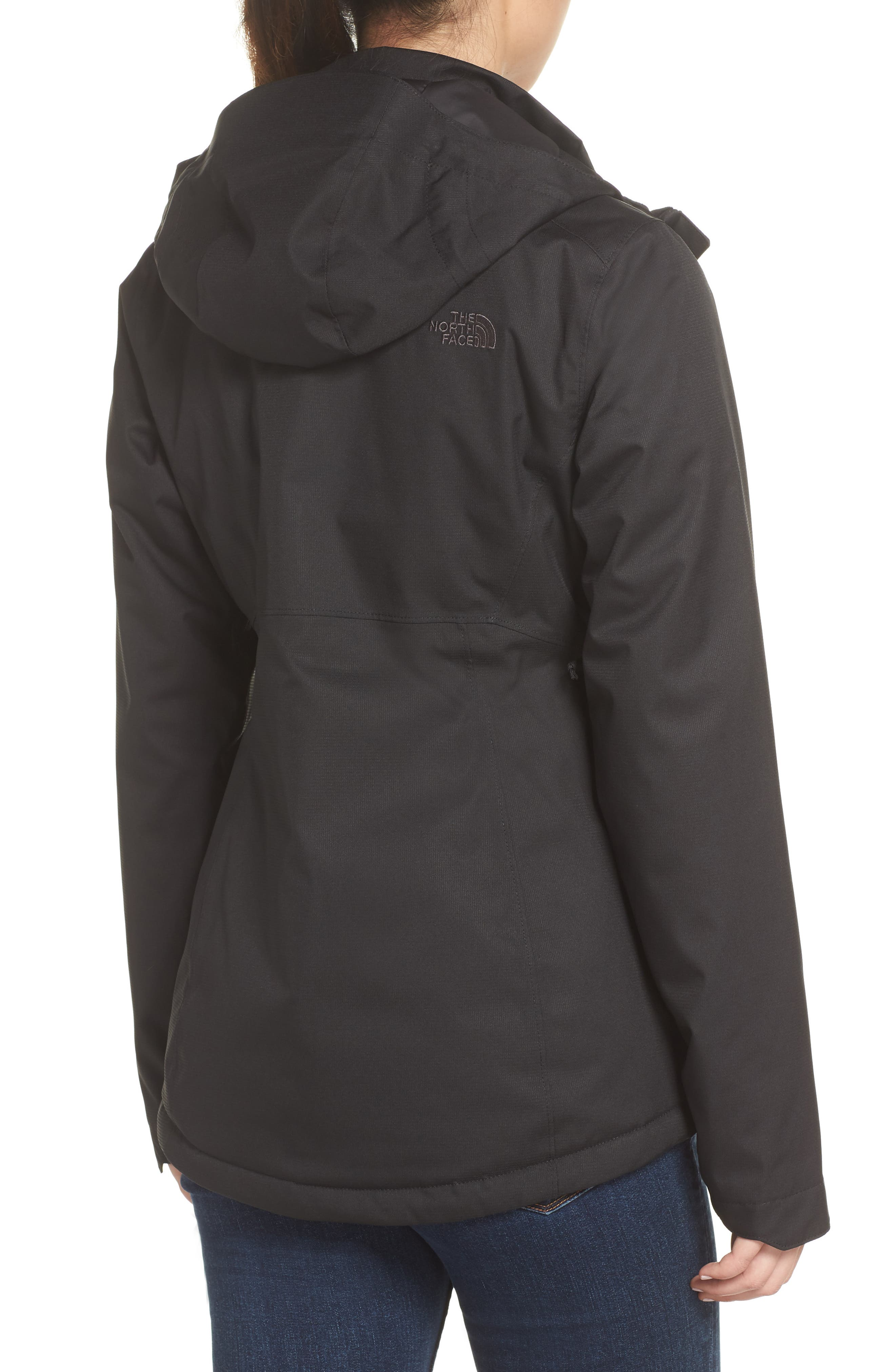 Inlux 2.0 Standard Fit Hooded DryVent Jacket,                             Alternate thumbnail 2, color,                             TNF BLACK