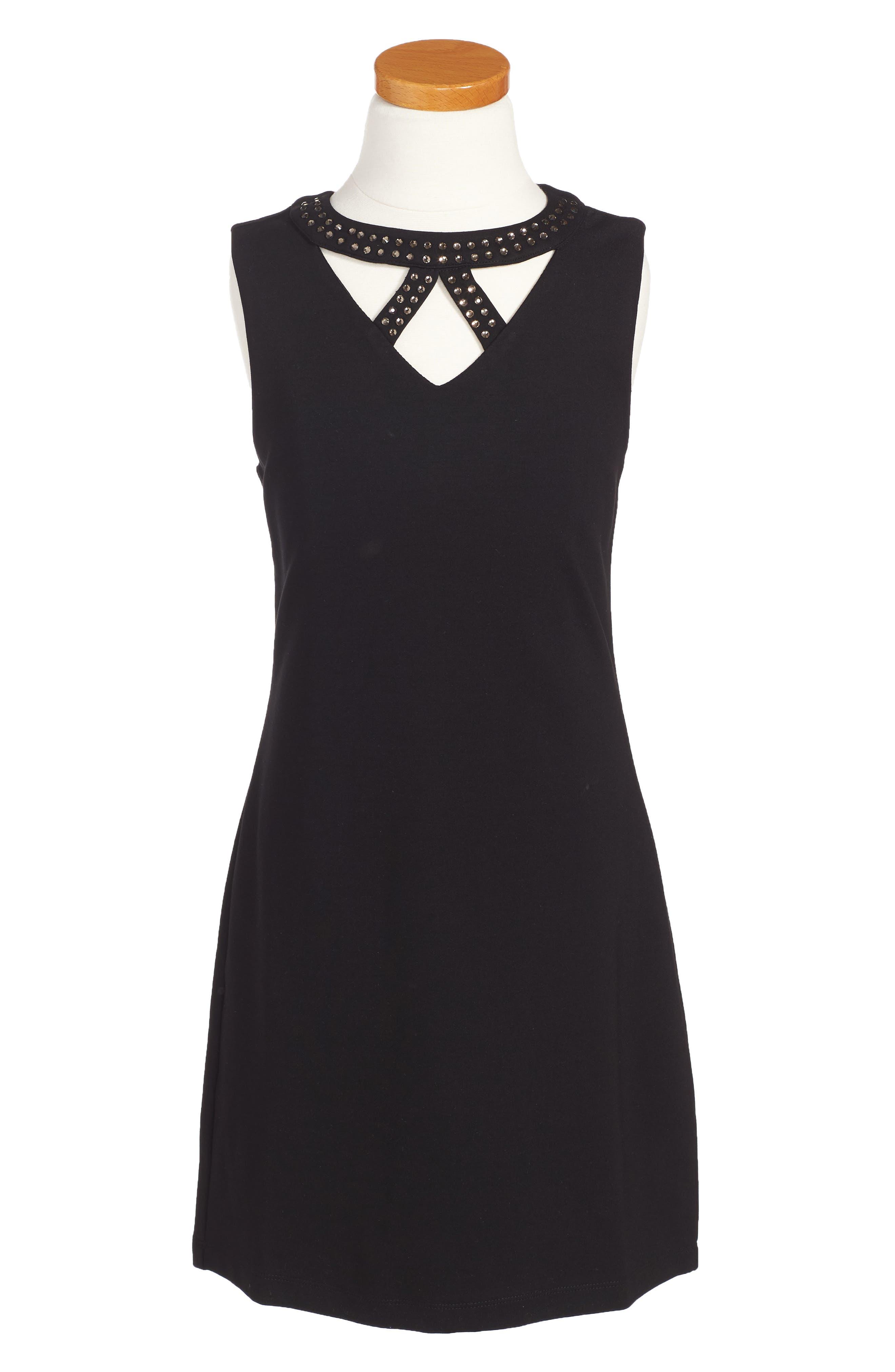 Ponti Dress,                         Main,                         color, 001