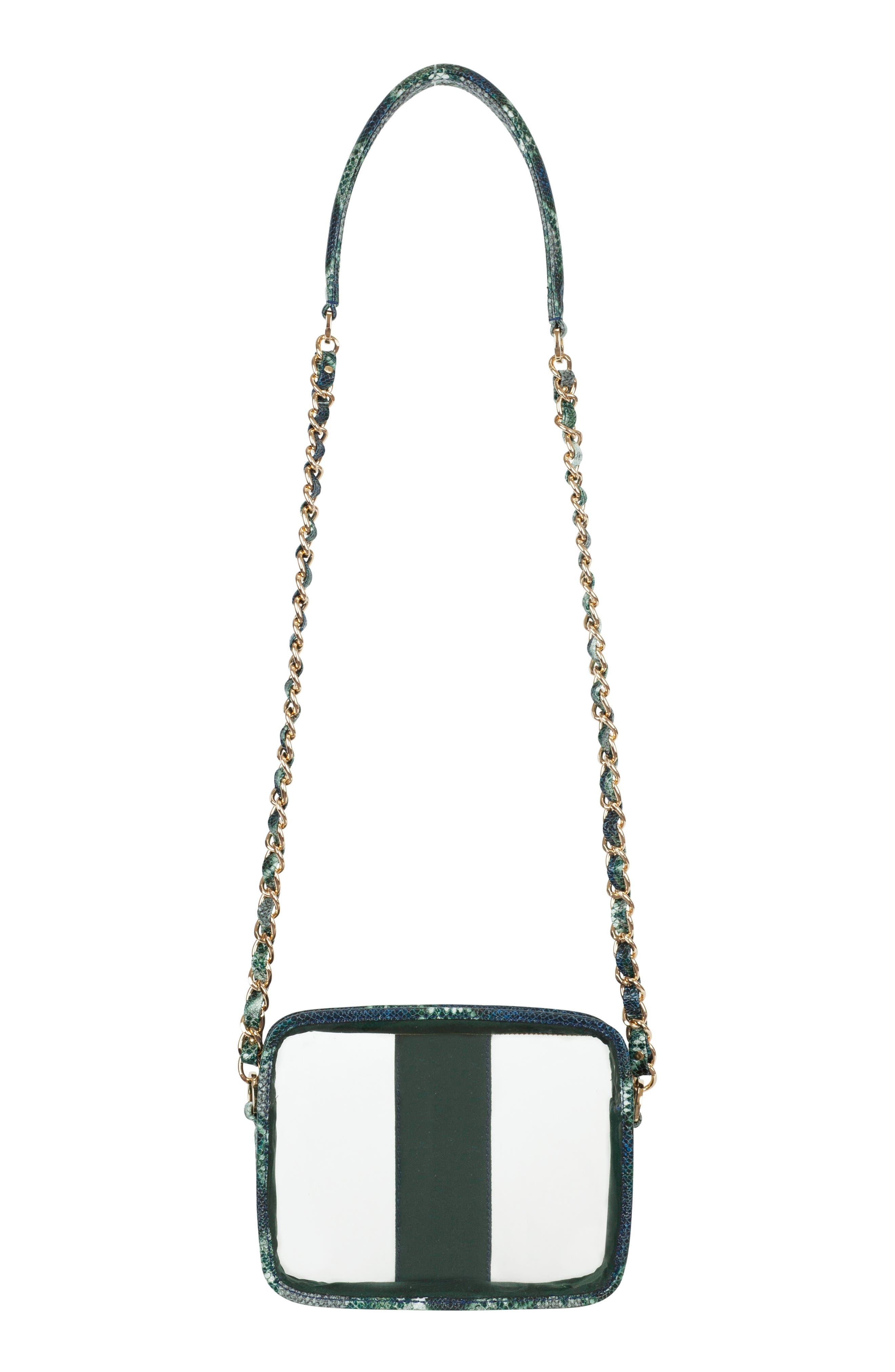 Clear Mingle Mingle Mini Crossbody Bag,                             Alternate thumbnail 2, color,                             GREEN MULTI PYTHON