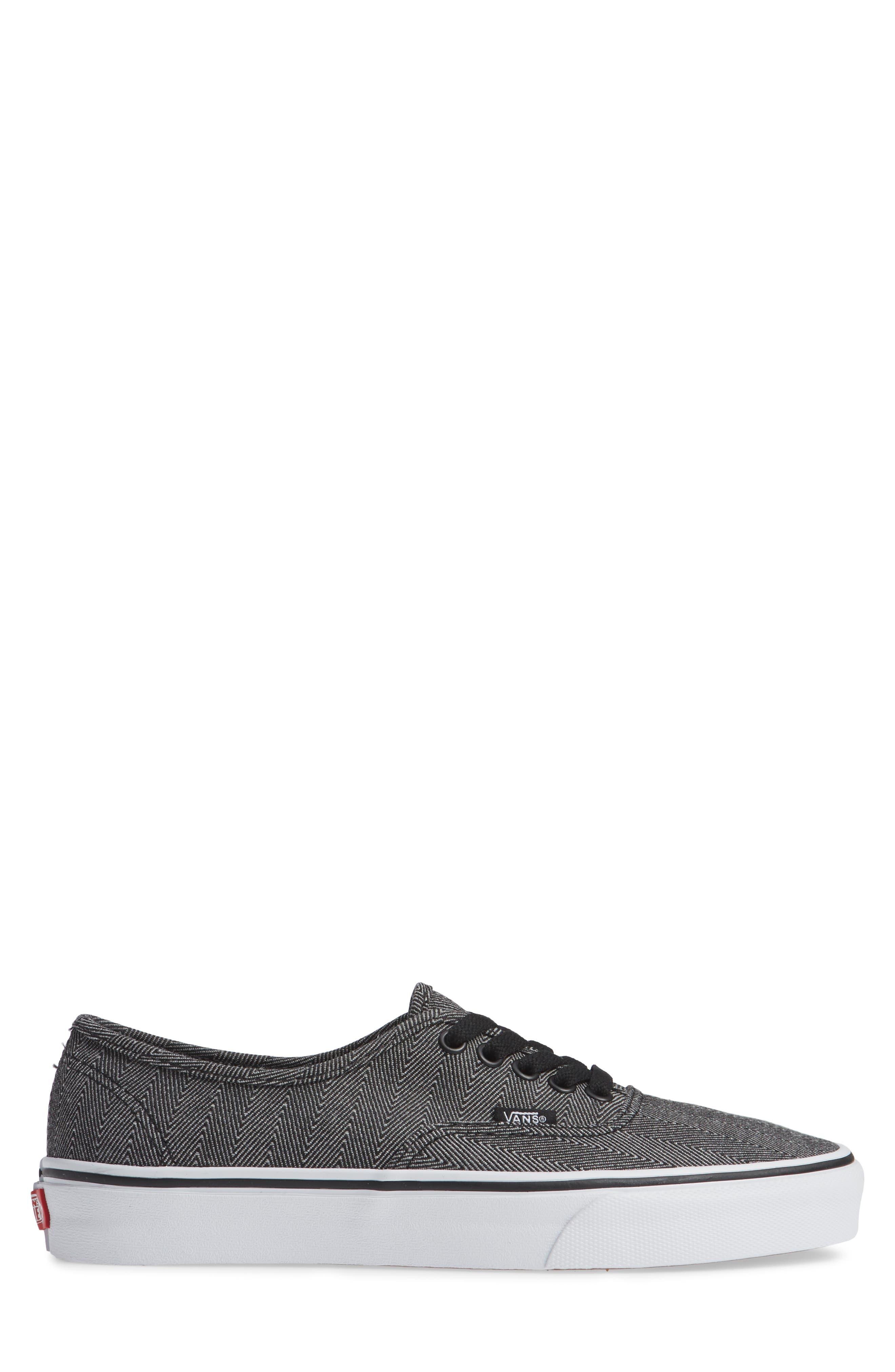 UA Authentic Sneaker,                             Alternate thumbnail 3, color,                             BLACK/ TRUE WHITE