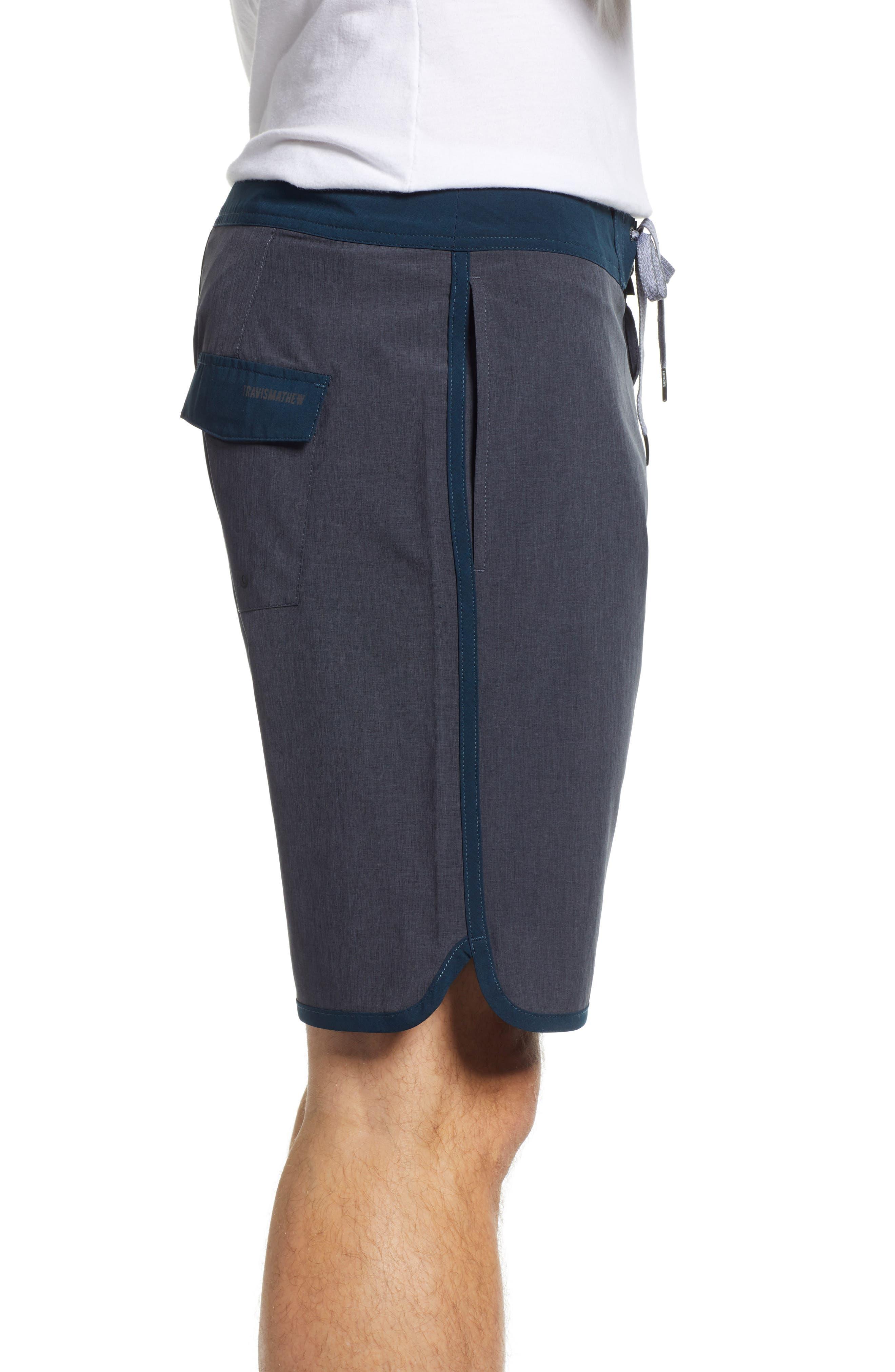 Yoni Hybrid Shorts,                             Alternate thumbnail 3, color,                             HEATHER BLACK
