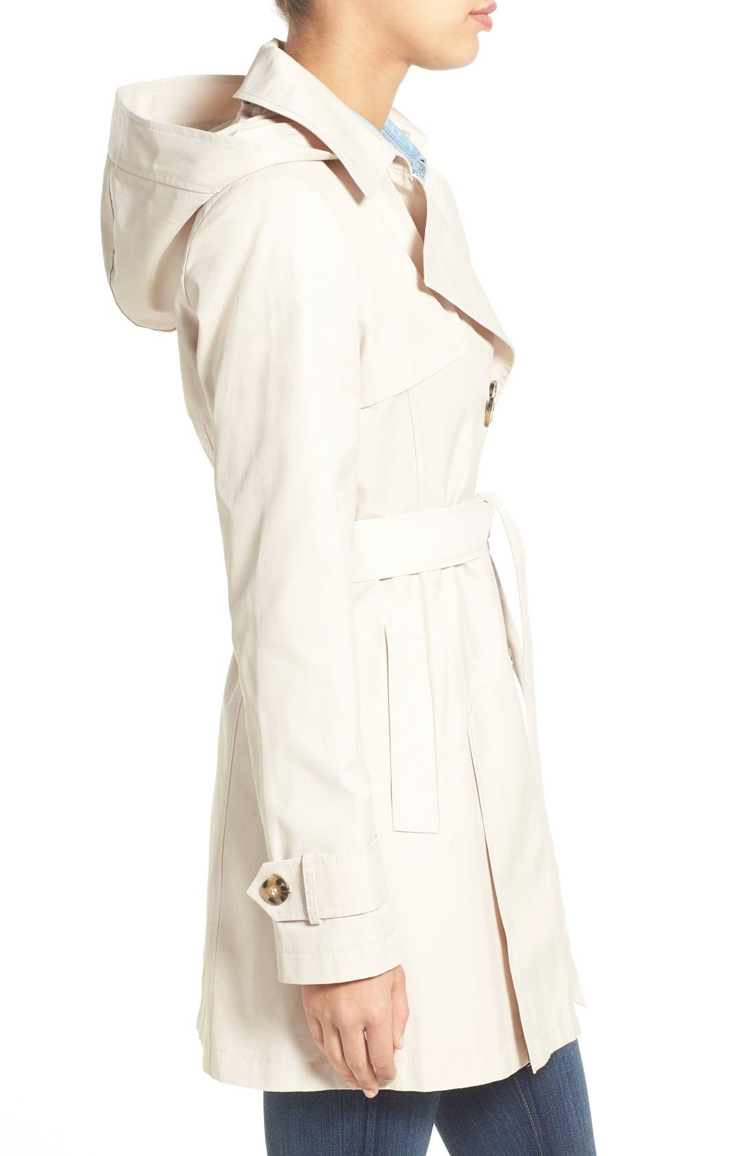 Detachable Hood Trench Coat,                             Alternate thumbnail 20, color,