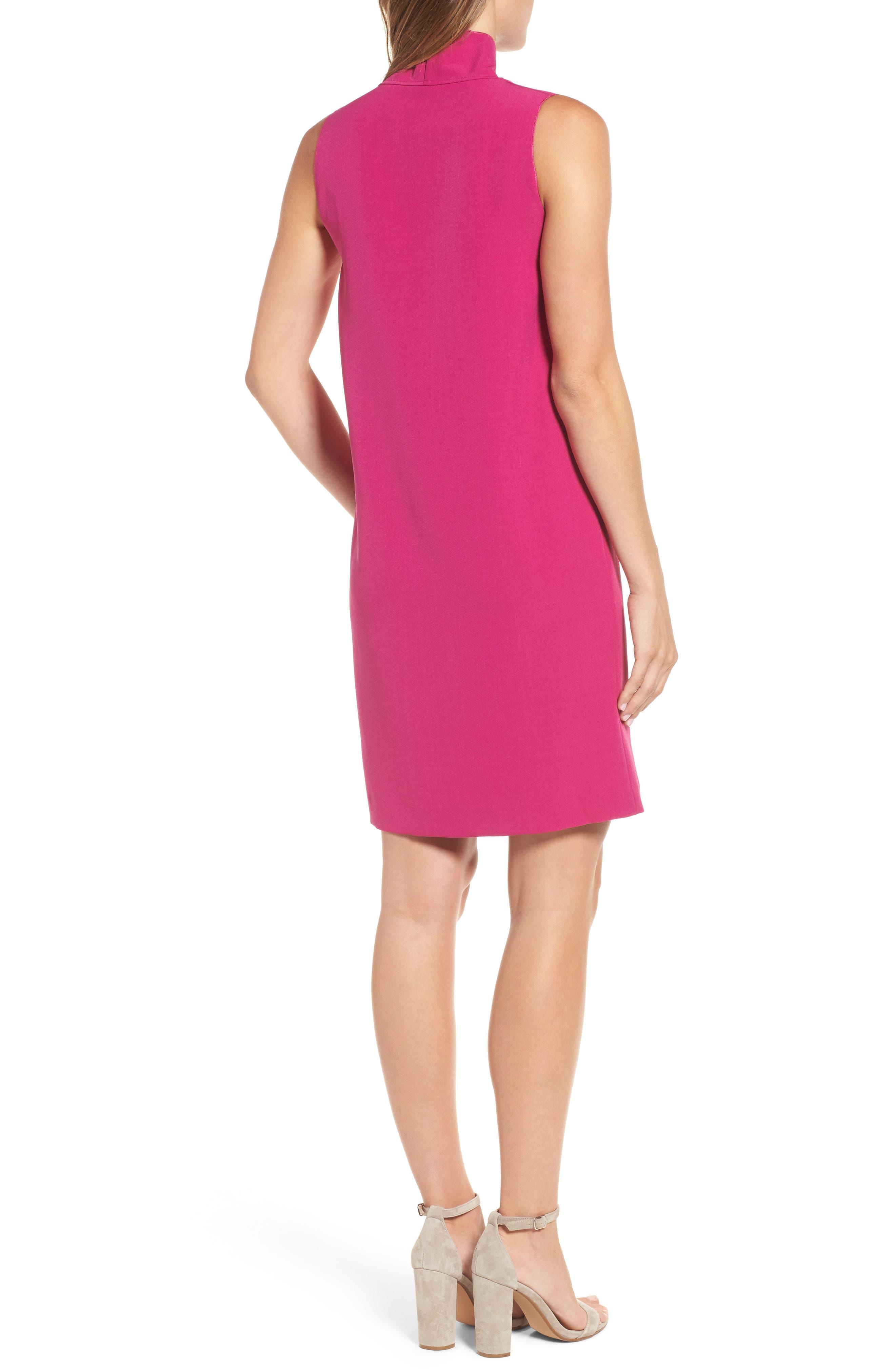 Cowl Neck Sheath Dress,                             Alternate thumbnail 4, color,