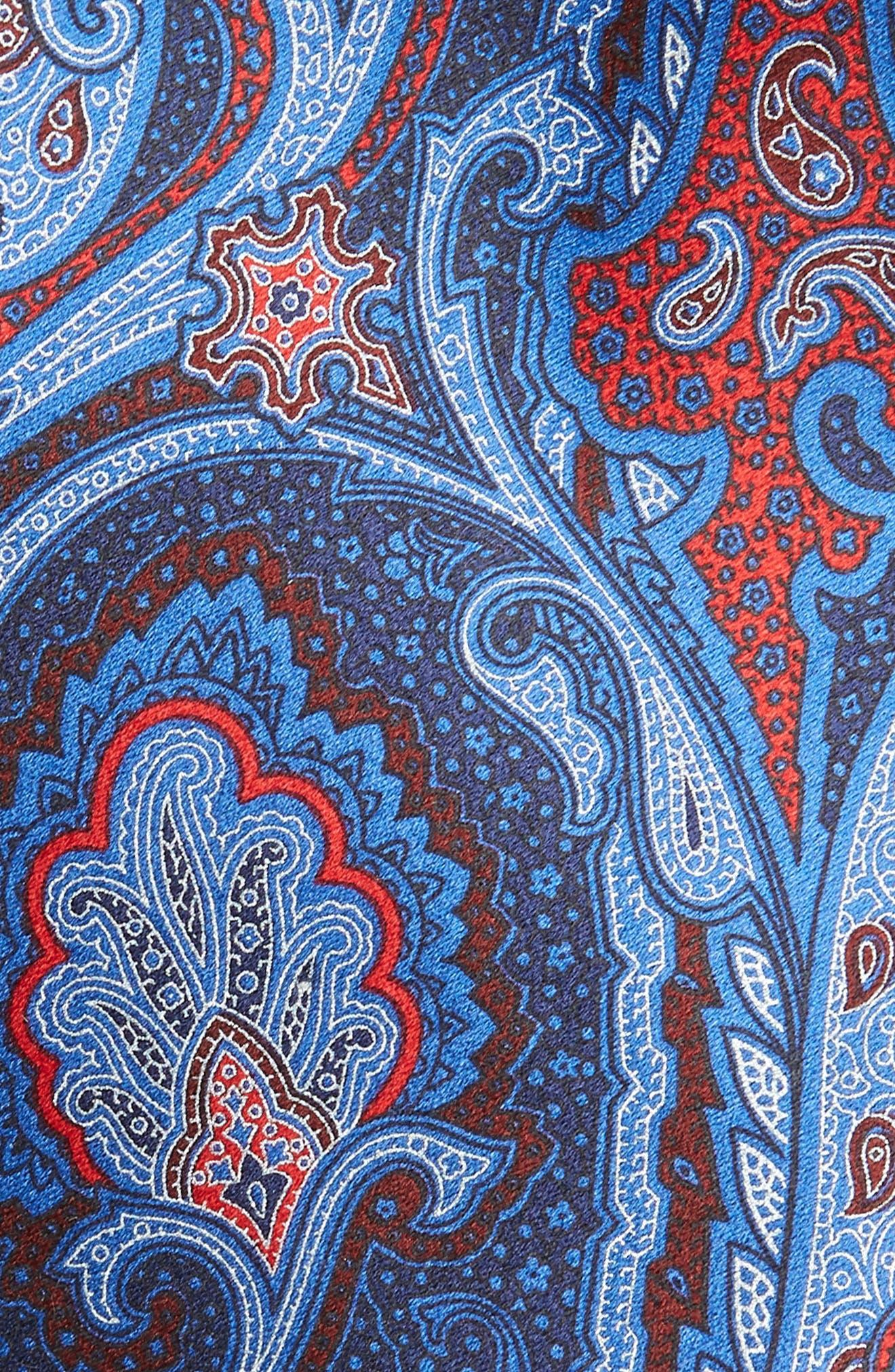 ERMENEGILDO ZEGNA,                             Paisley Silk Tie,                             Alternate thumbnail 2, color,                             428