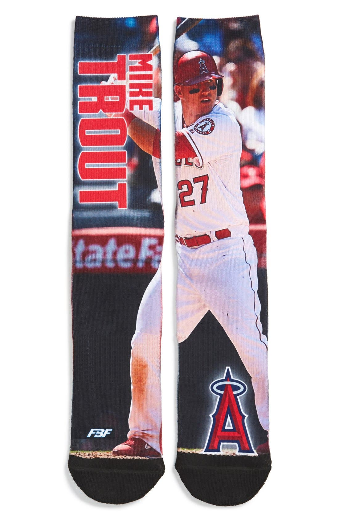 'Los Angeles Angels - Mike Trout' Socks, Main, color, 649