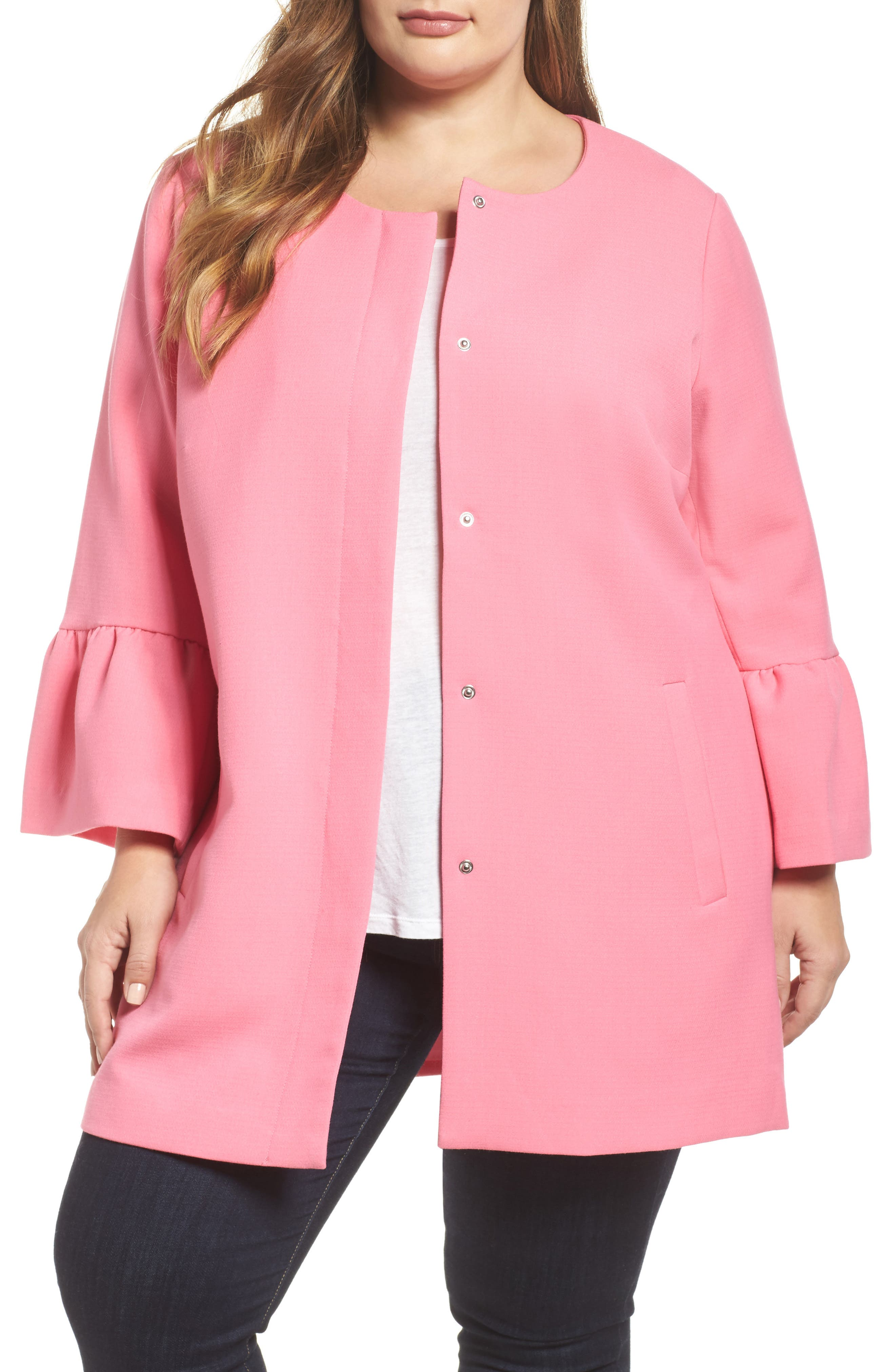 Mica Flounce Sleeve Jacket,                         Main,                         color,