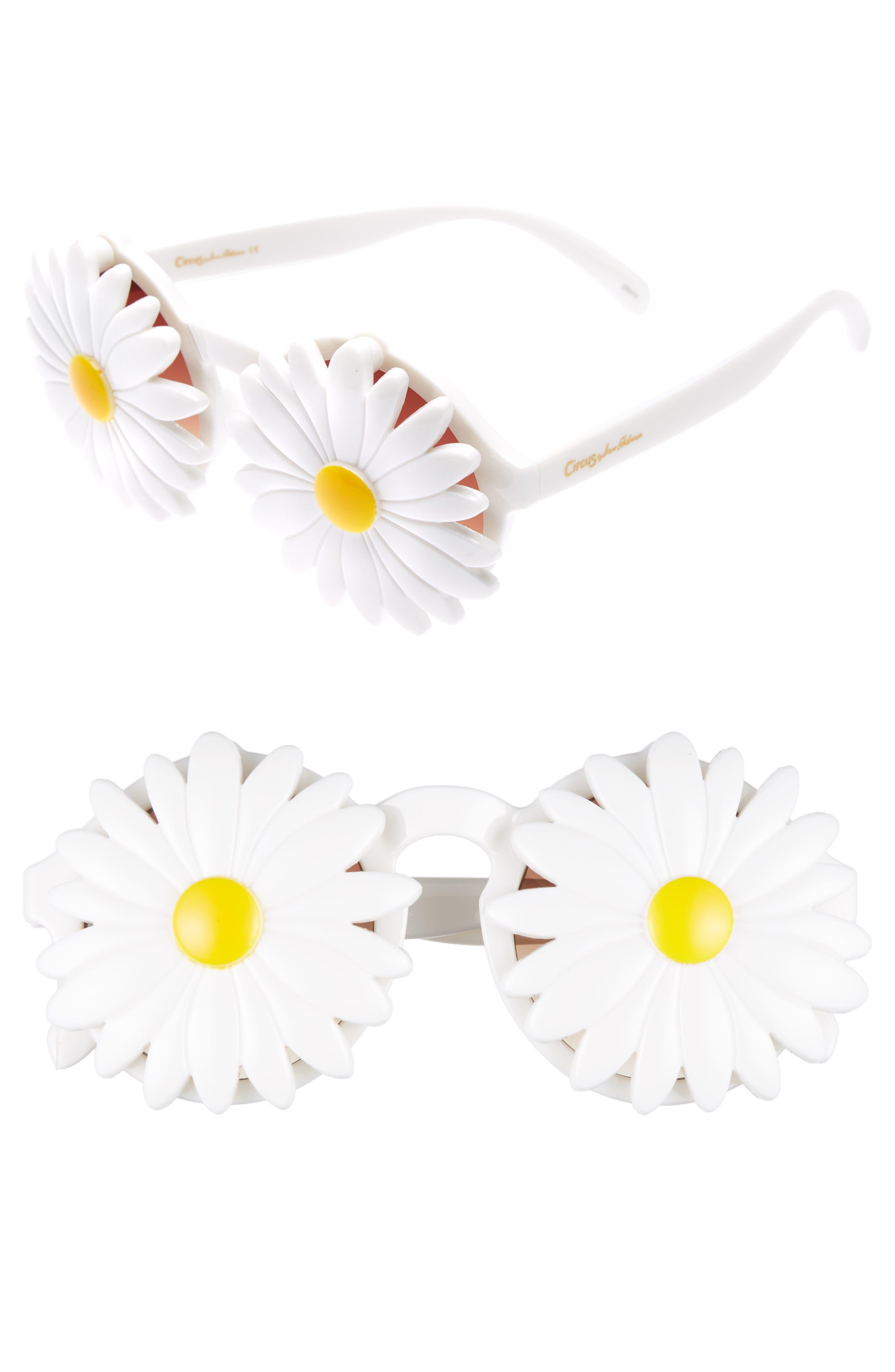 Daisy 45mm Round Sunglasses,                         Main,                         color, 100