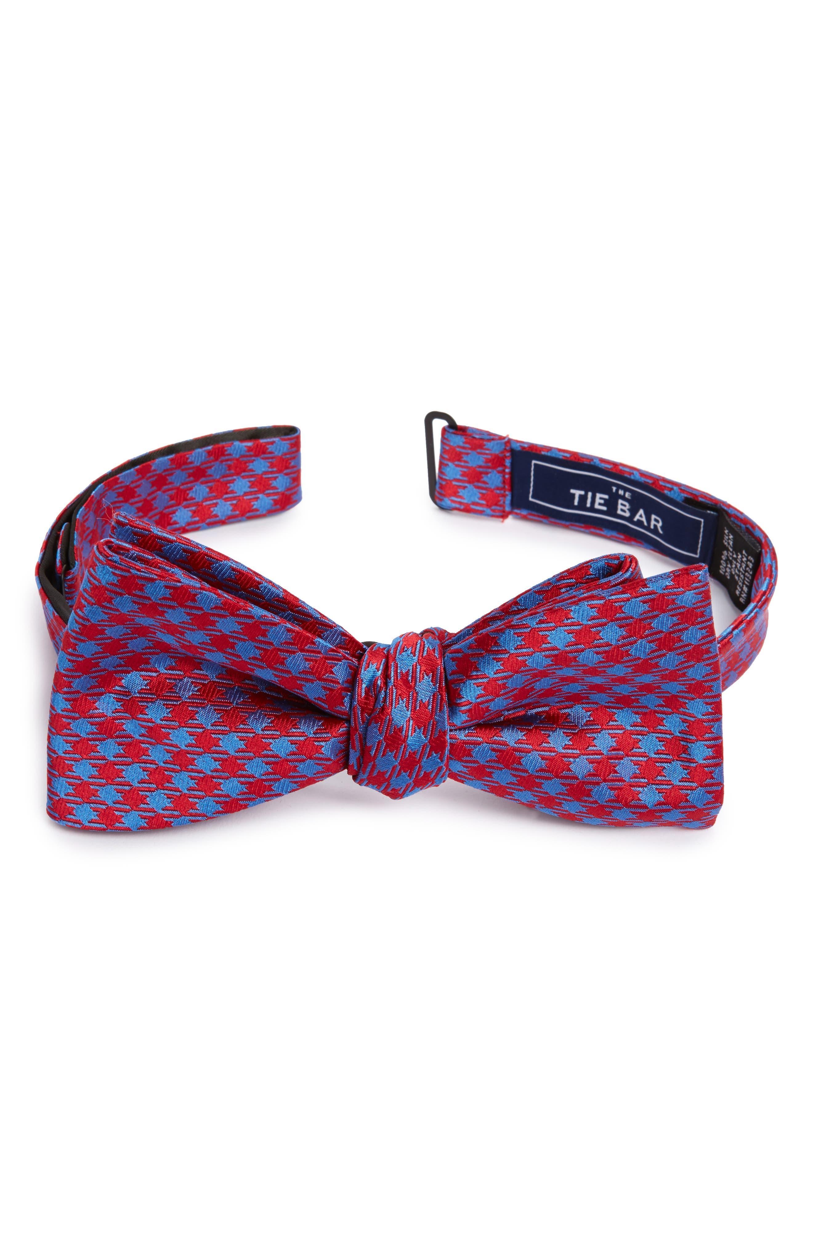 Commix Check Silk Bow Tie,                         Main,                         color, 600