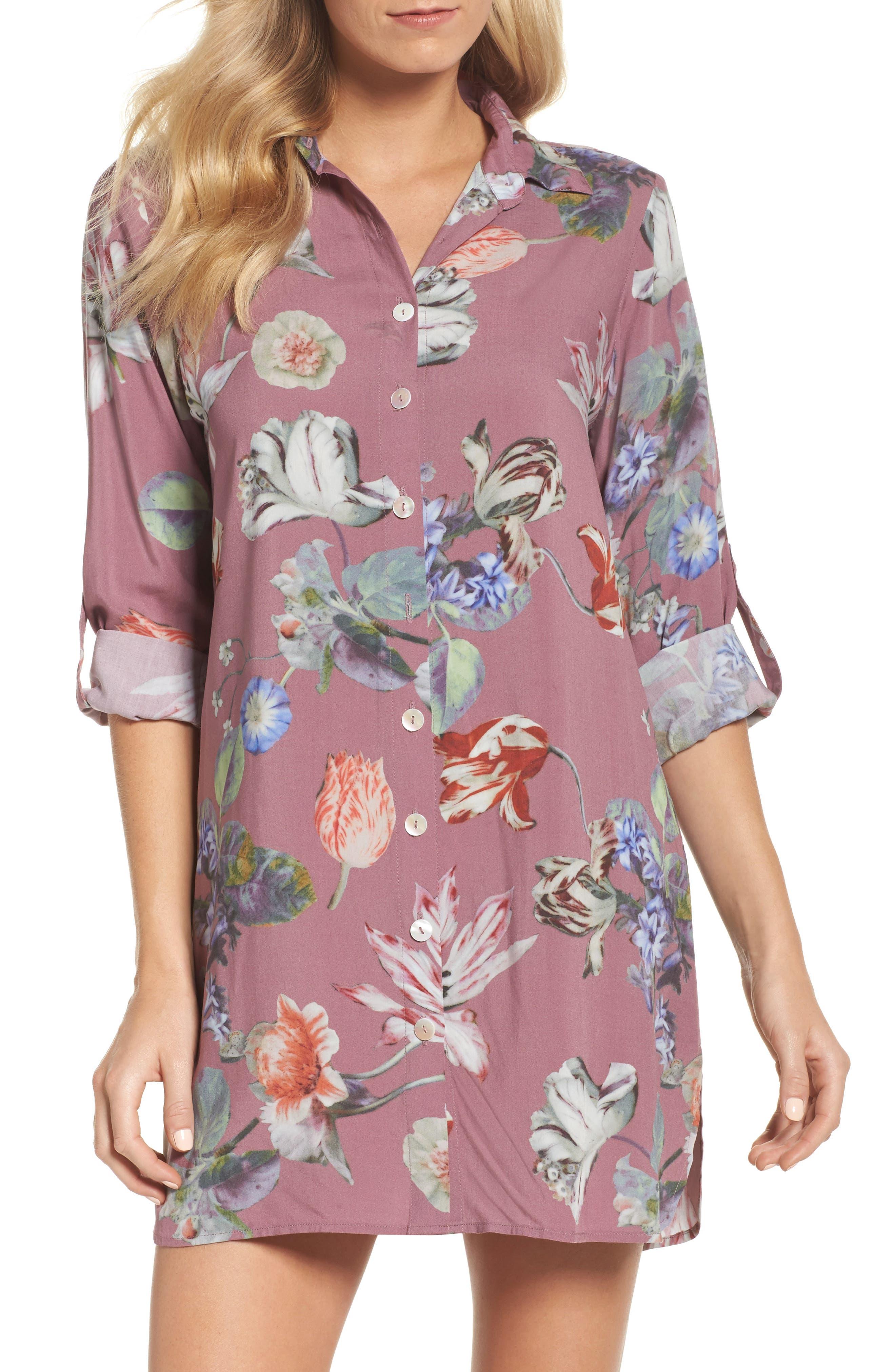 Floral Nightshirt,                             Main thumbnail 2, color,