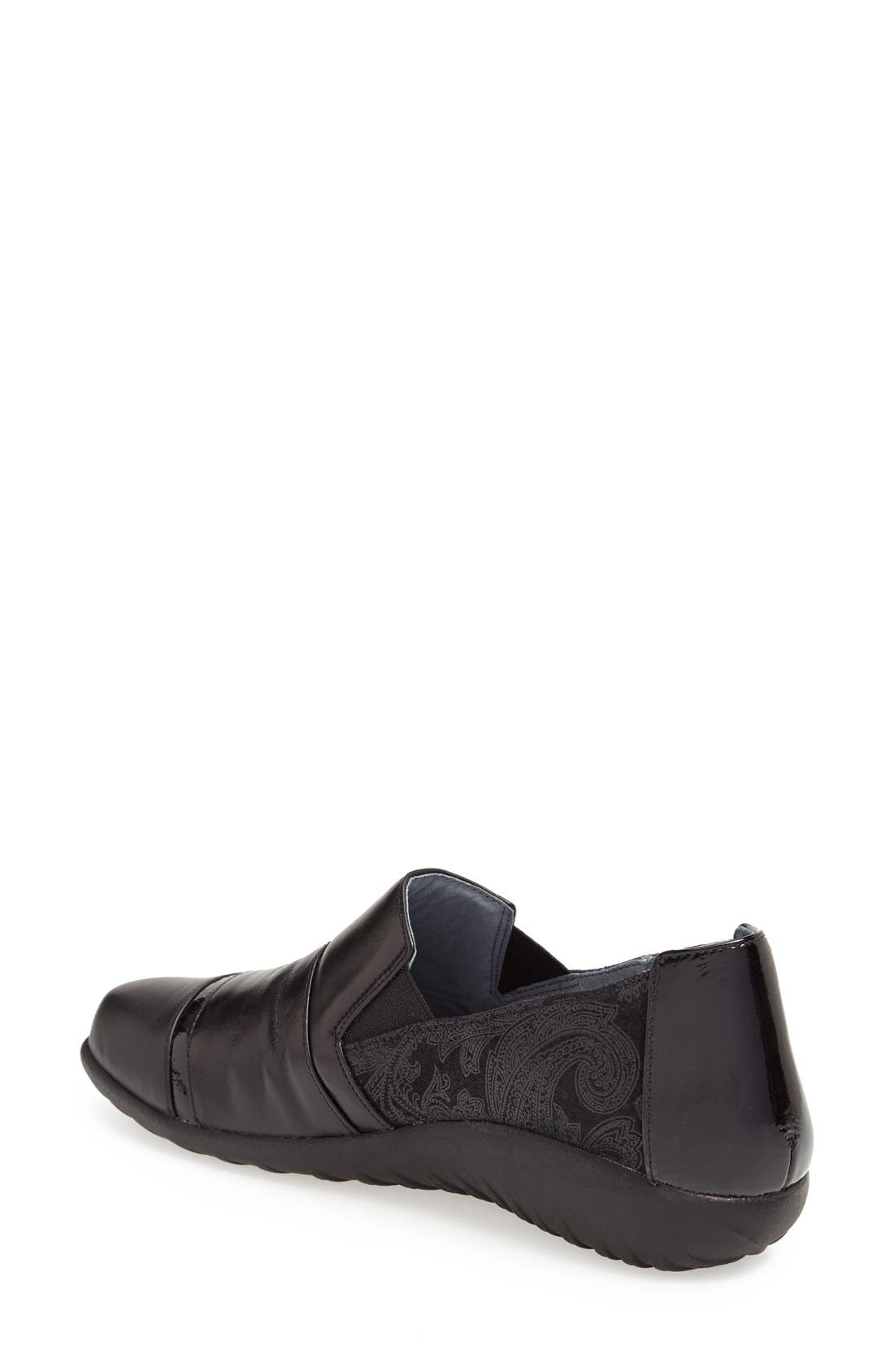 'Miro' Loafer,                             Alternate thumbnail 2, color,                             BLACK LACE