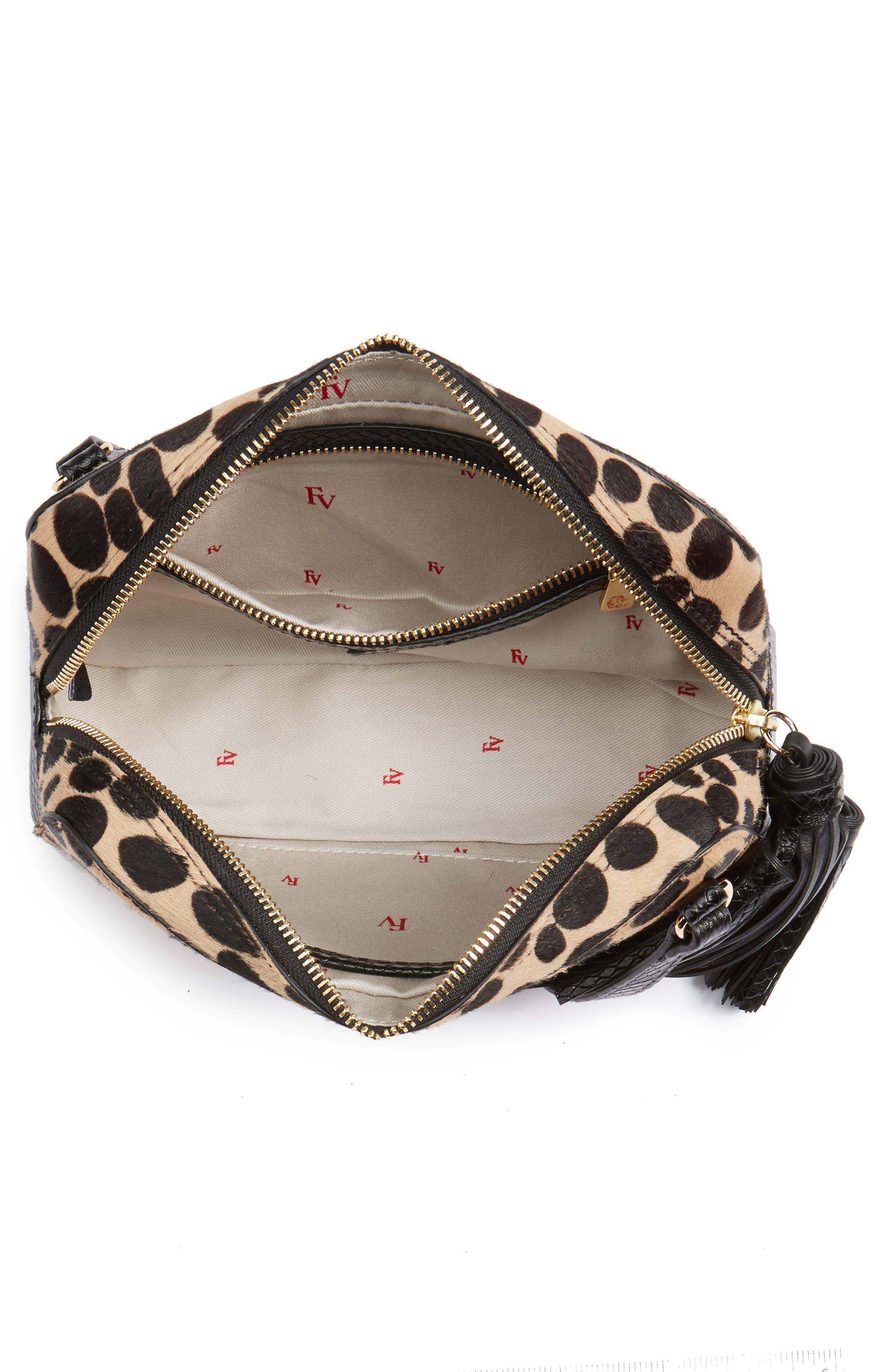 Genuine Calf Hair Crossbody Bag,                             Alternate thumbnail 4, color,                             001