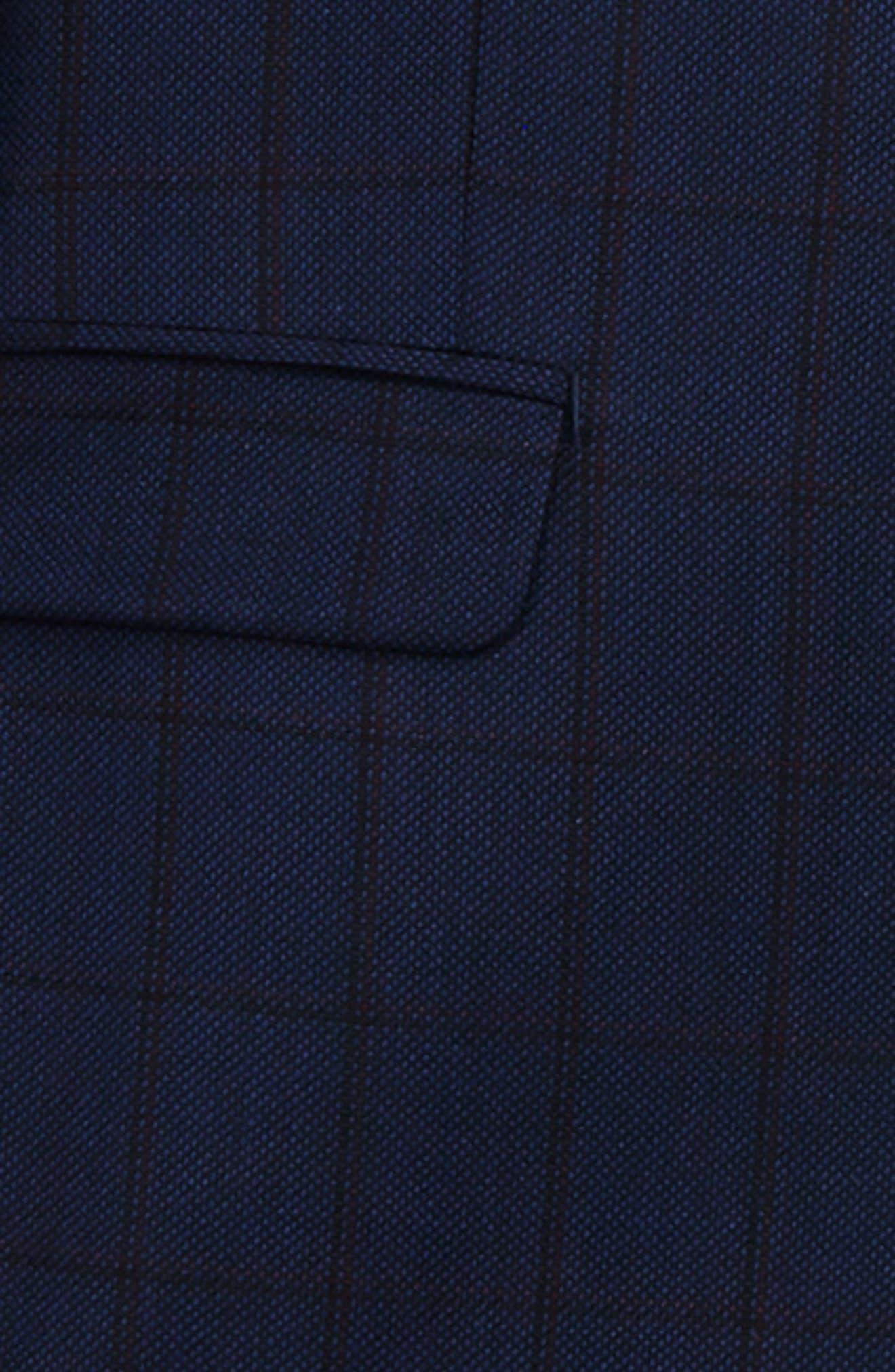 Windowpane Wool Suit,                             Alternate thumbnail 2, color,                             410