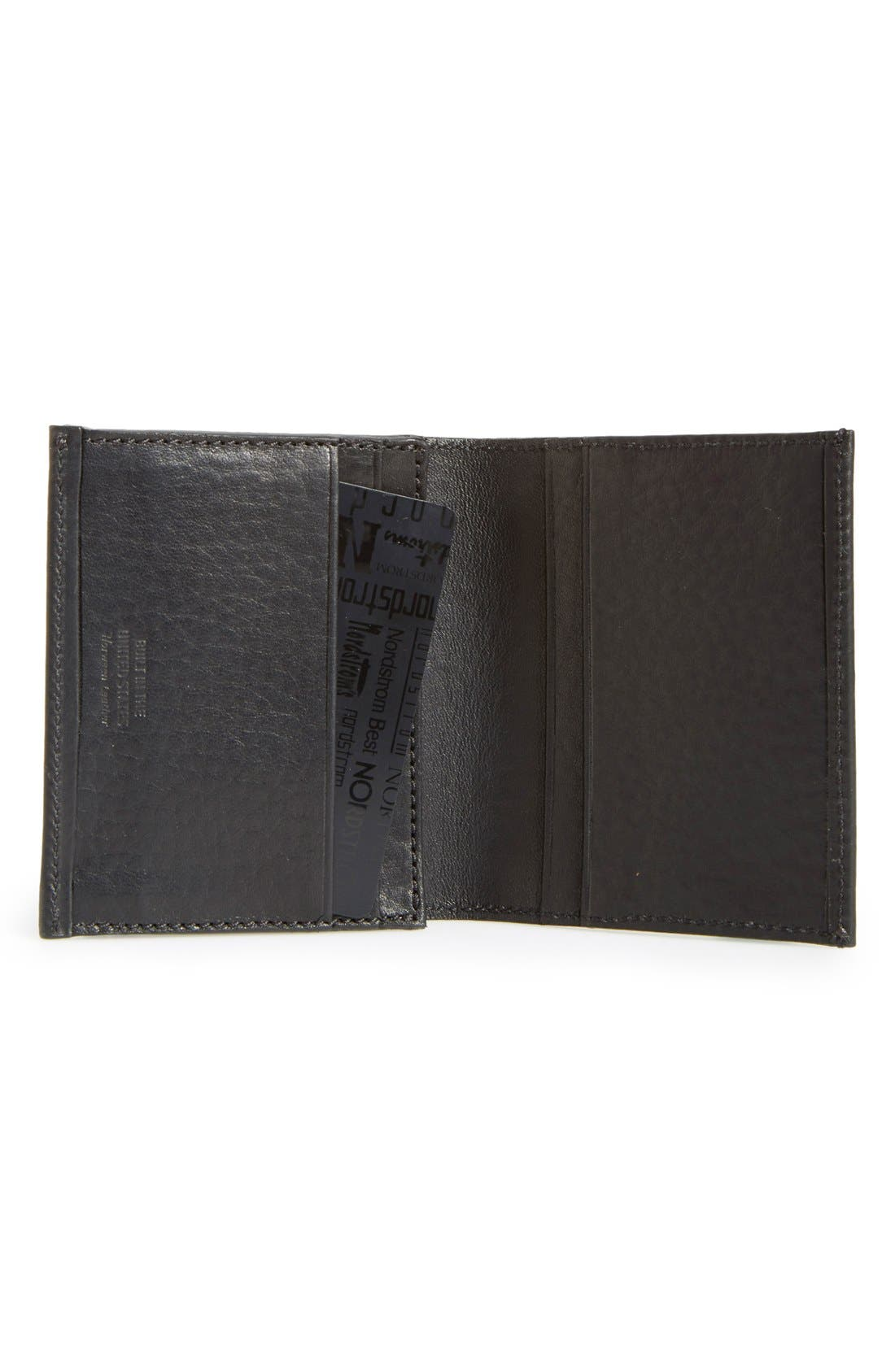 Gusset Leather Card Case,                             Alternate thumbnail 2, color,                             001