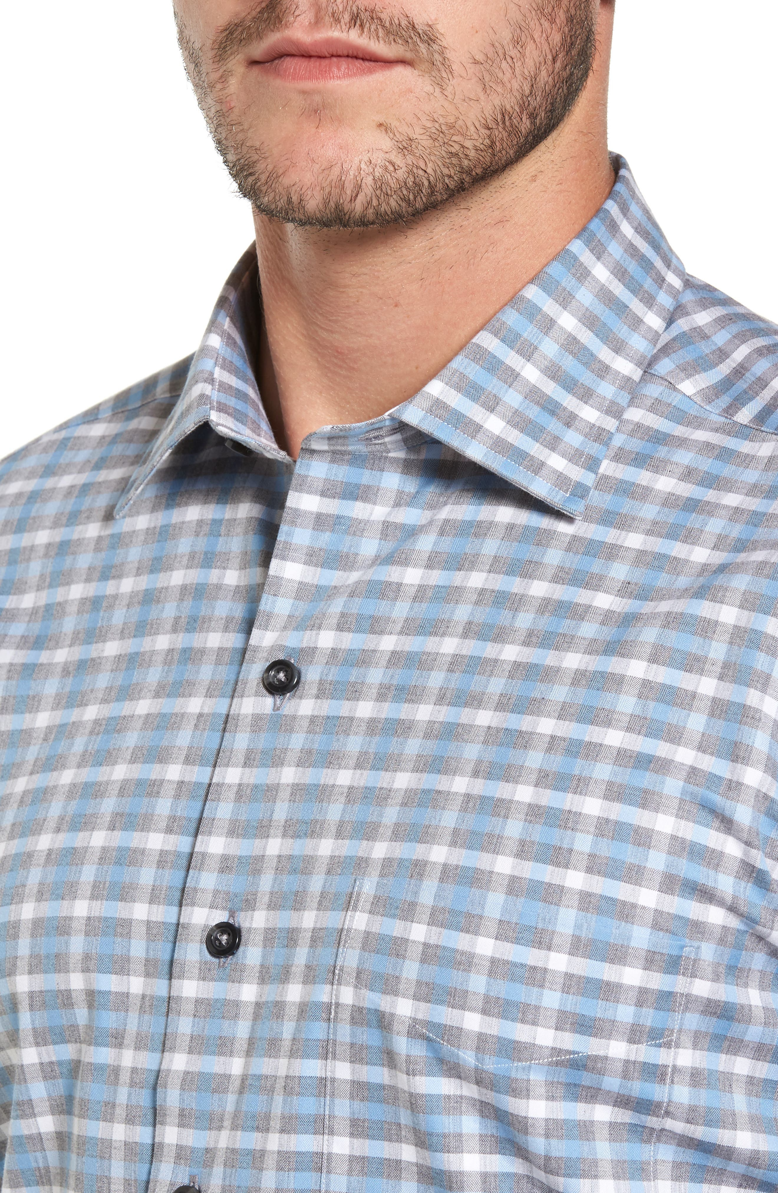 Plaid Regular Fit Sport Shirt,                             Alternate thumbnail 7, color,