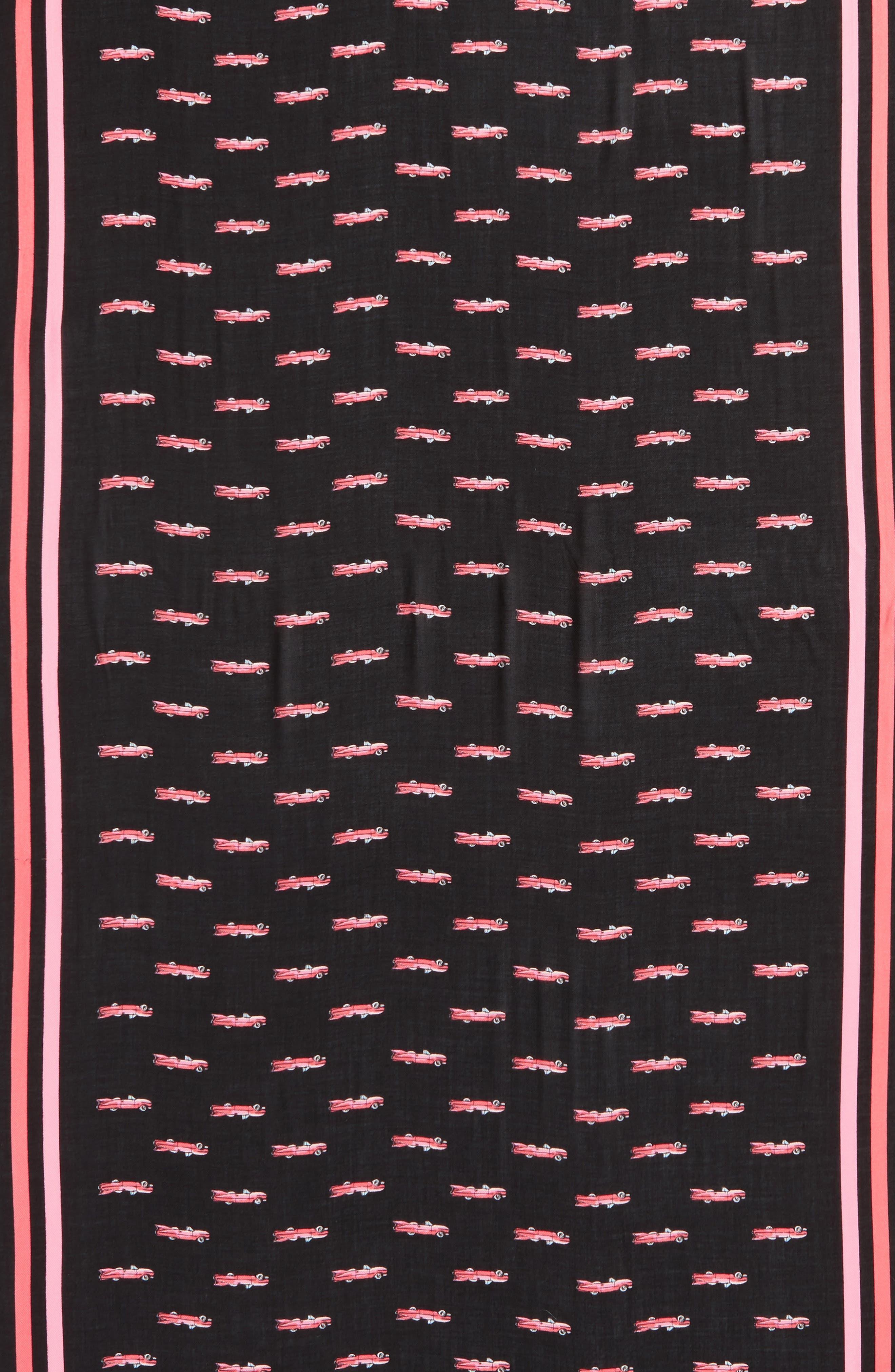hot rod oblong scarf,                             Alternate thumbnail 4, color,                             001