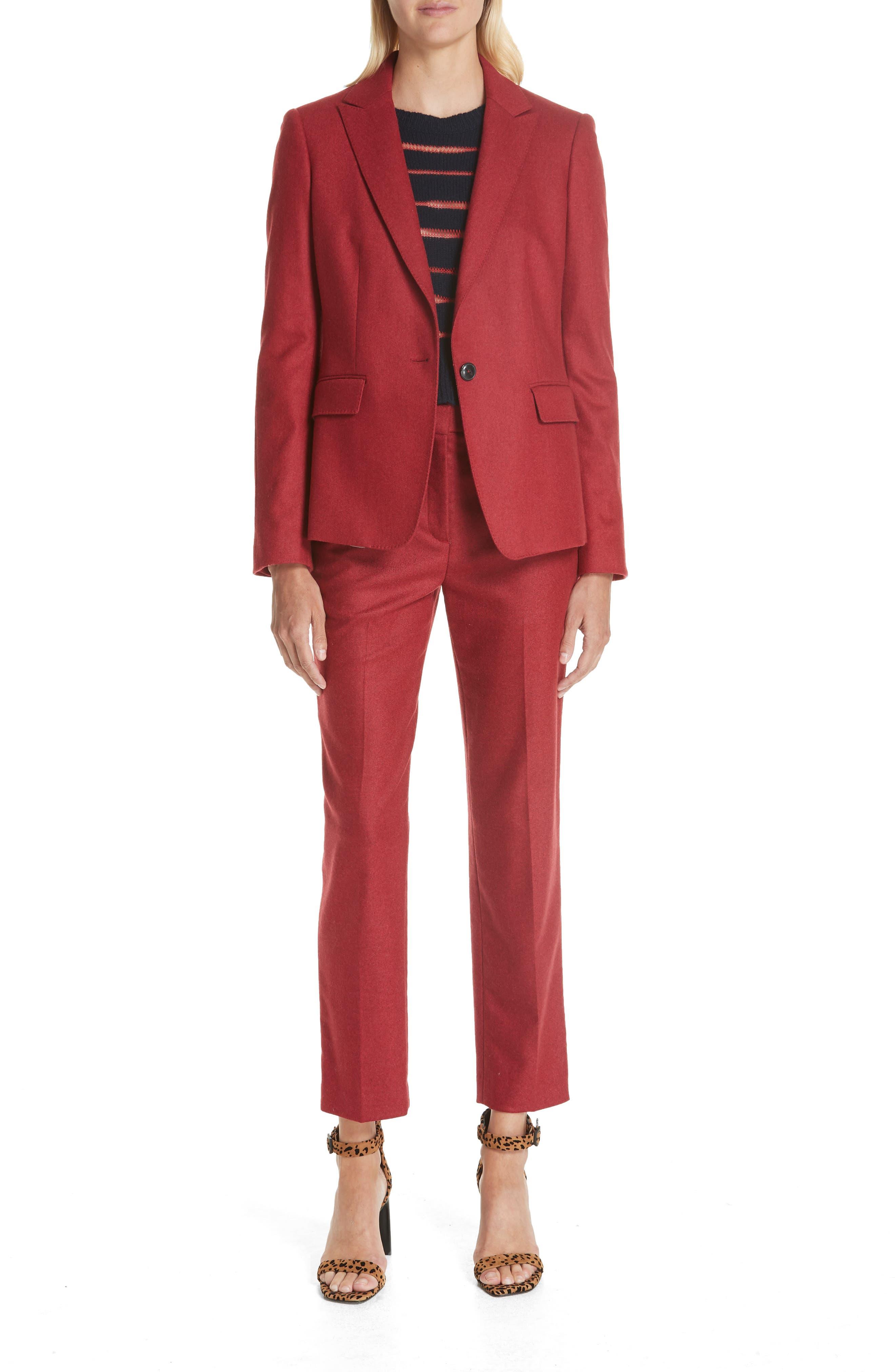 Lexington Wool Blend Blazer,                             Alternate thumbnail 6, color,                             RED MELANGE