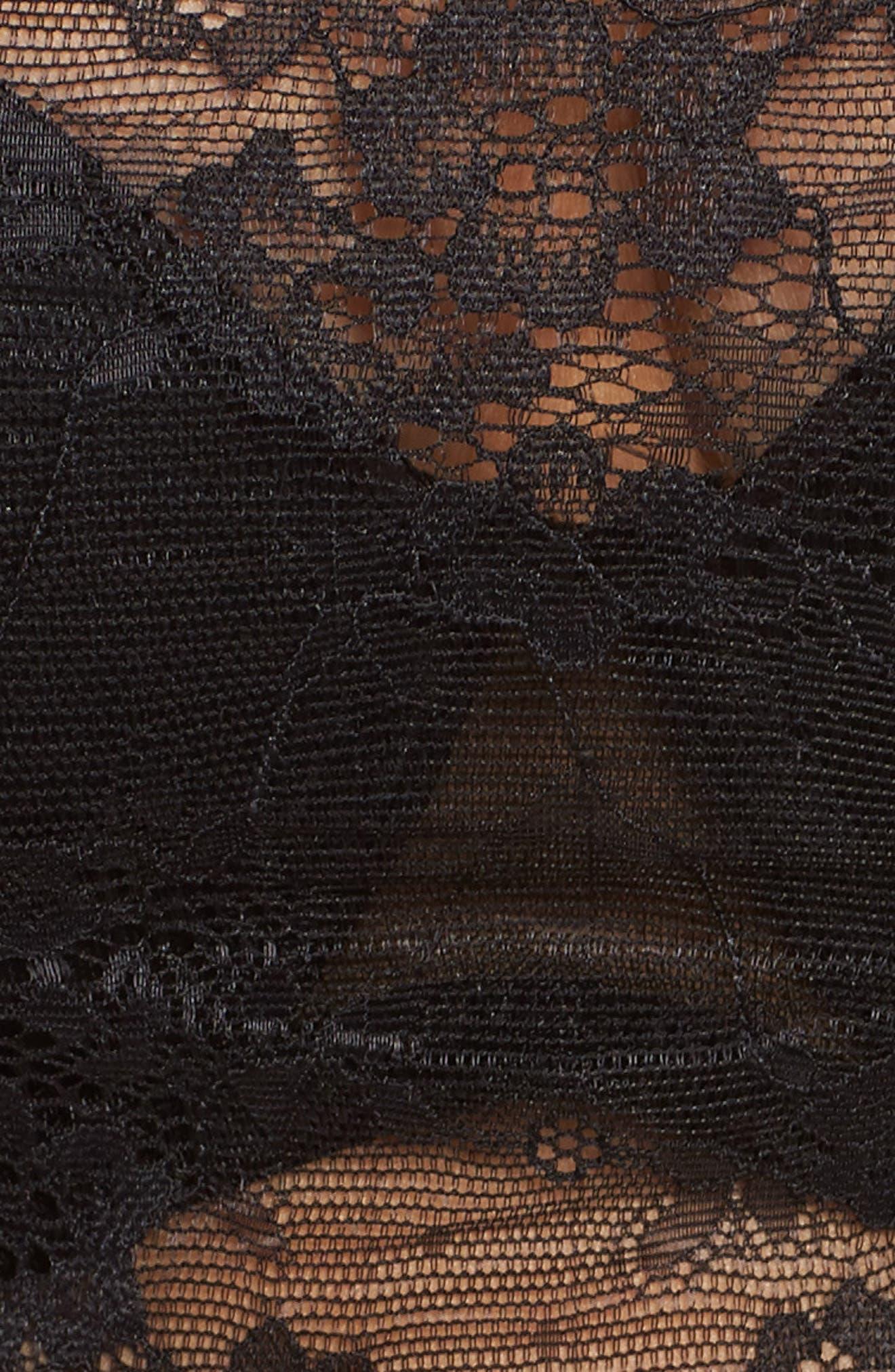 NORDSTROM LINGERIE,                             Backless Strapless Underwire Bandeau Bra,                             Alternate thumbnail 6, color,                             BLACK