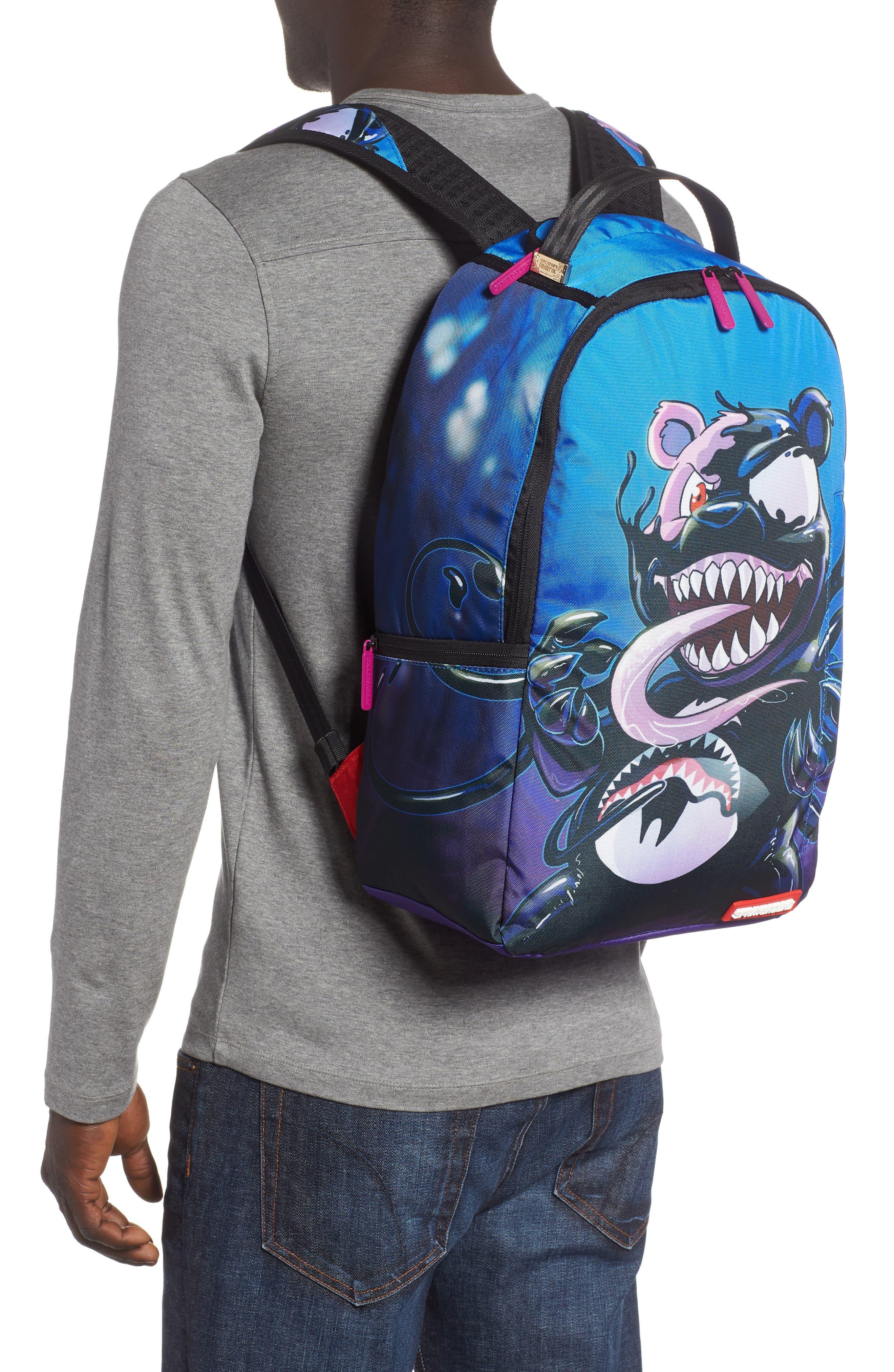 Villain Bear Print Backpack,                             Alternate thumbnail 2, color,                             400