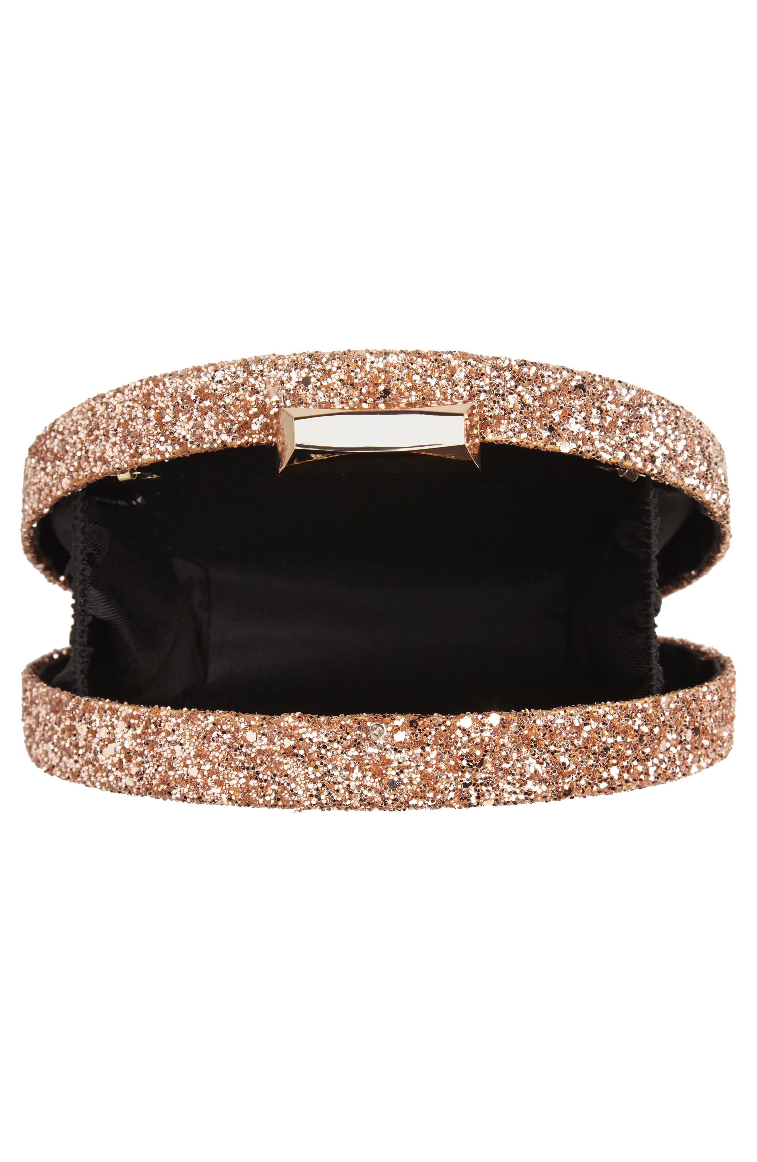 Glitter Clutch,                             Alternate thumbnail 4, color,                             GOLD