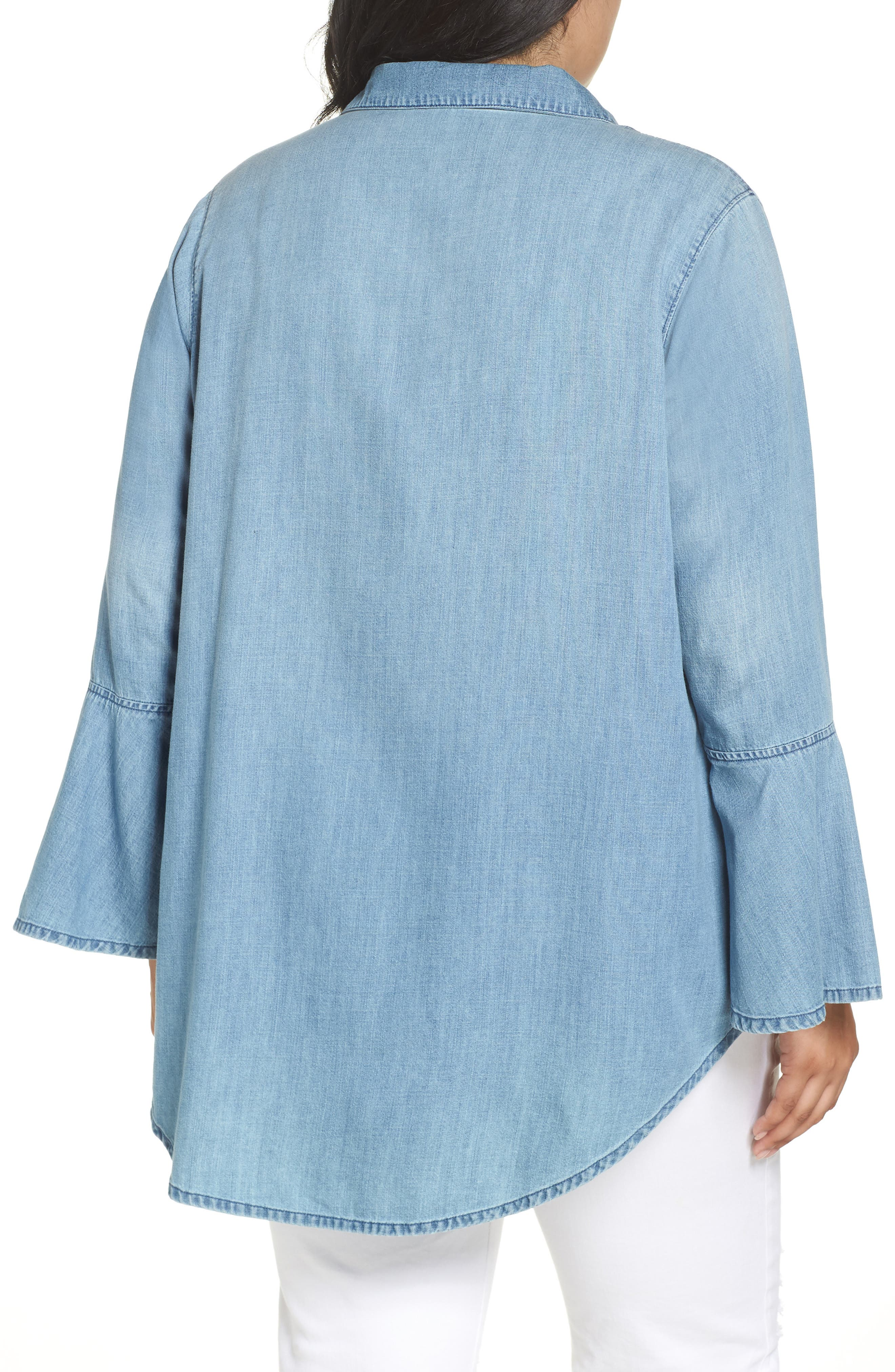 Lace-Up Tunic,                             Alternate thumbnail 4, color,