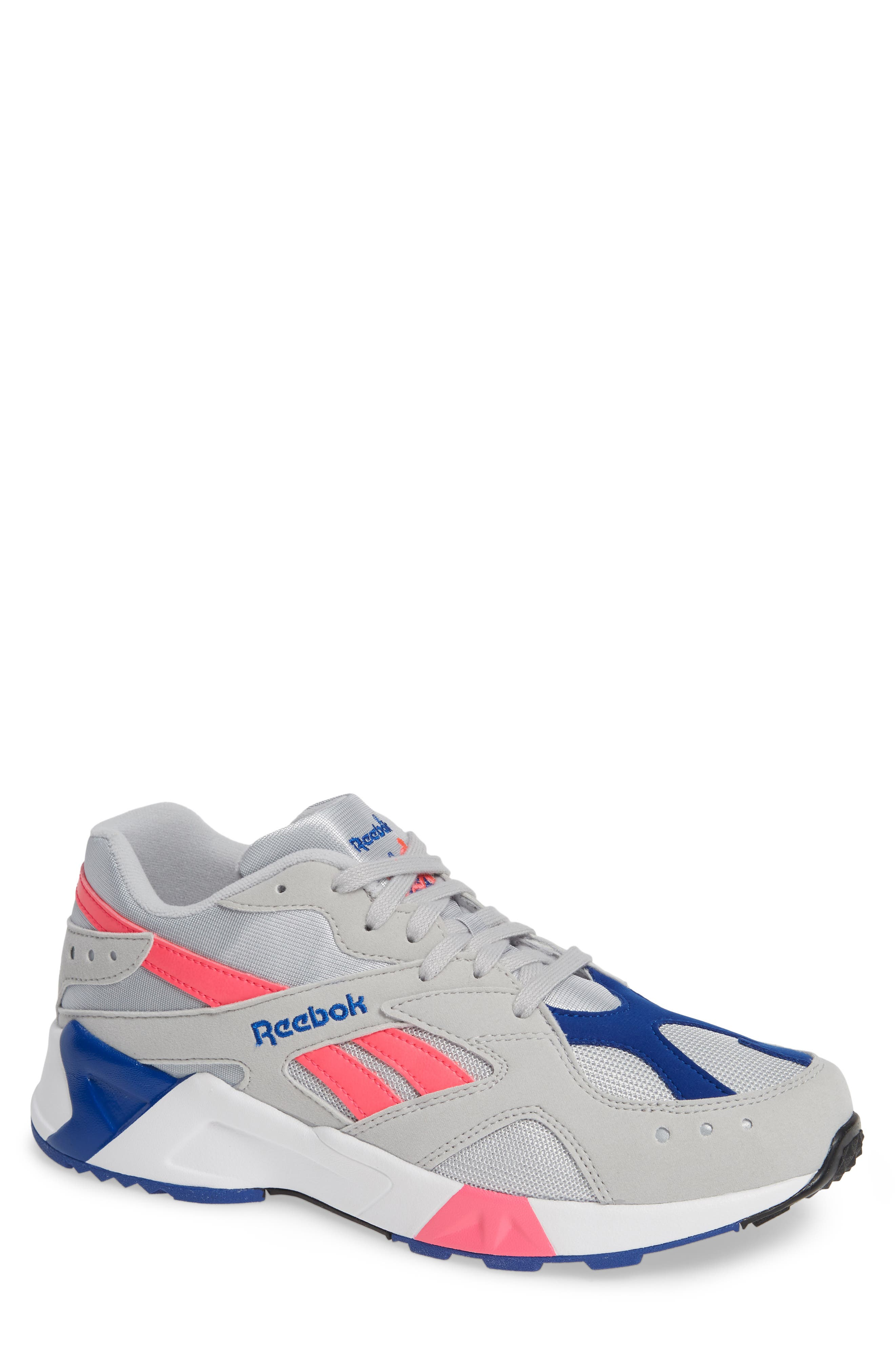 Aztrek Sneaker,                         Main,                         color, GREY/ PINK/ COLLEGIATE ROYAL