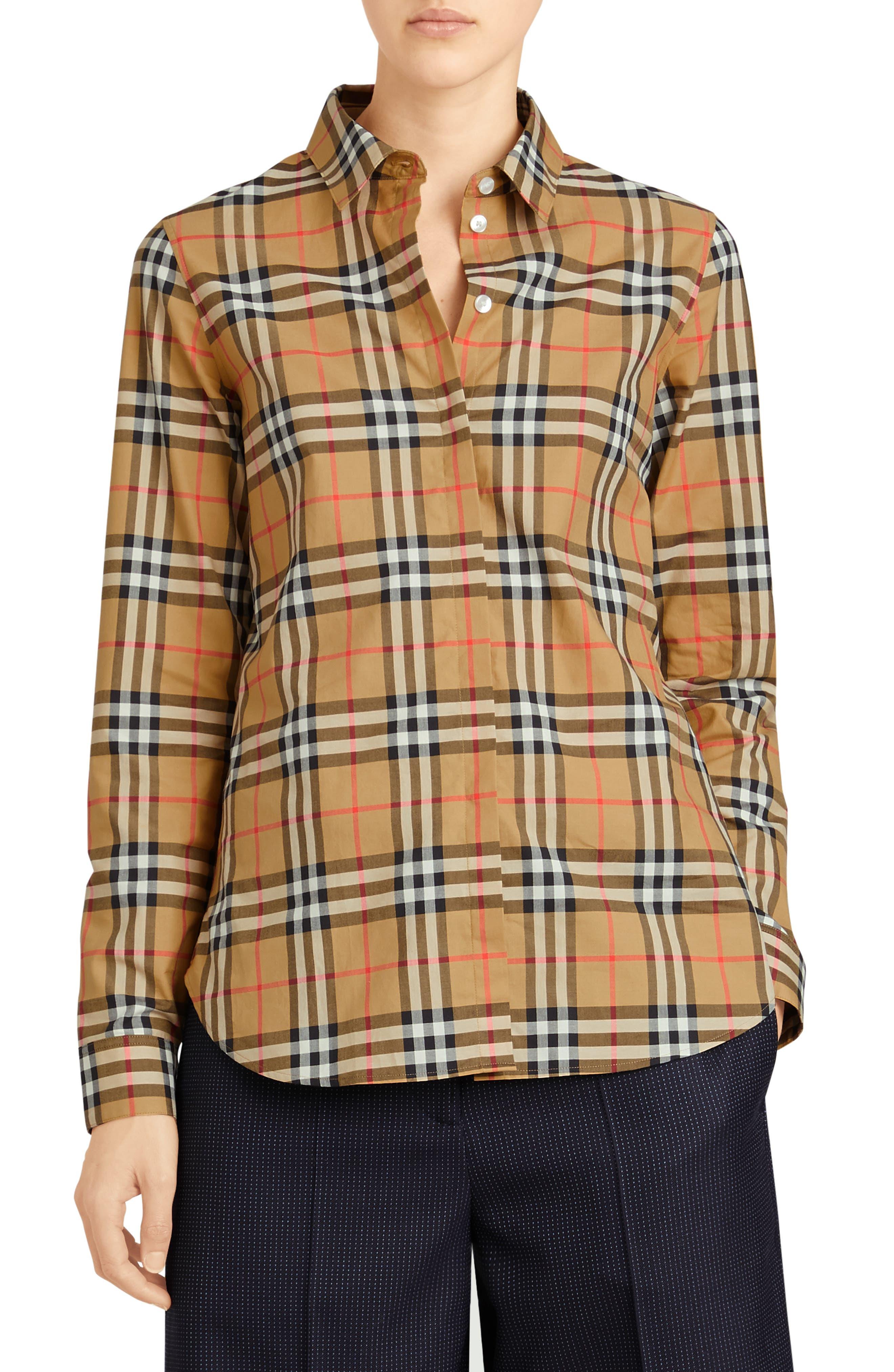 Crow Vintage Check Shirt,                         Main,                         color, ANTIQUE YELLOW CHECK