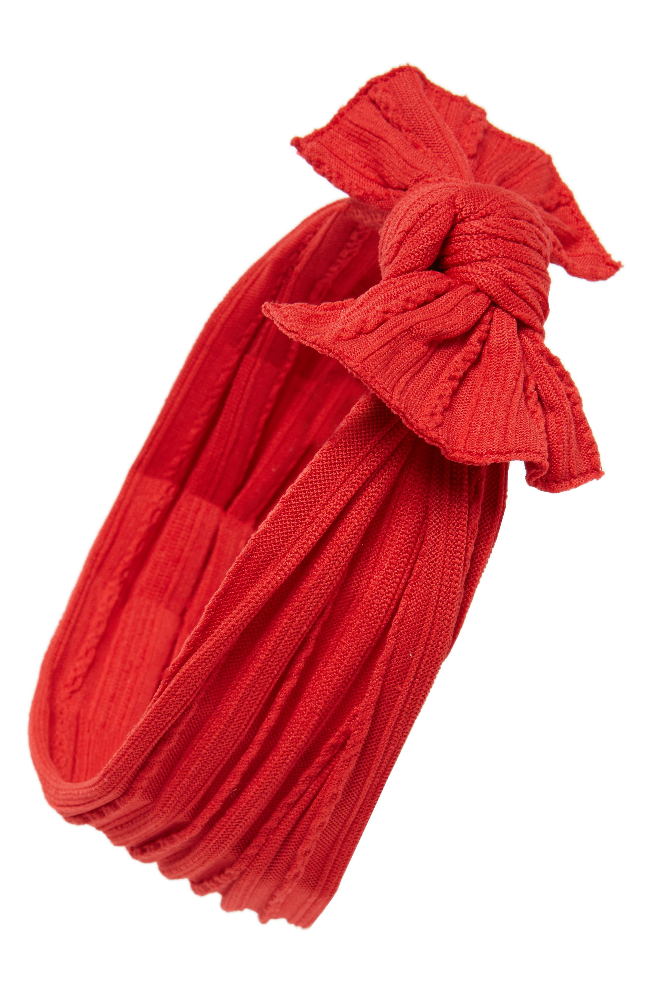 Cable Knot Headband,                         Main,                         color, CHERRY