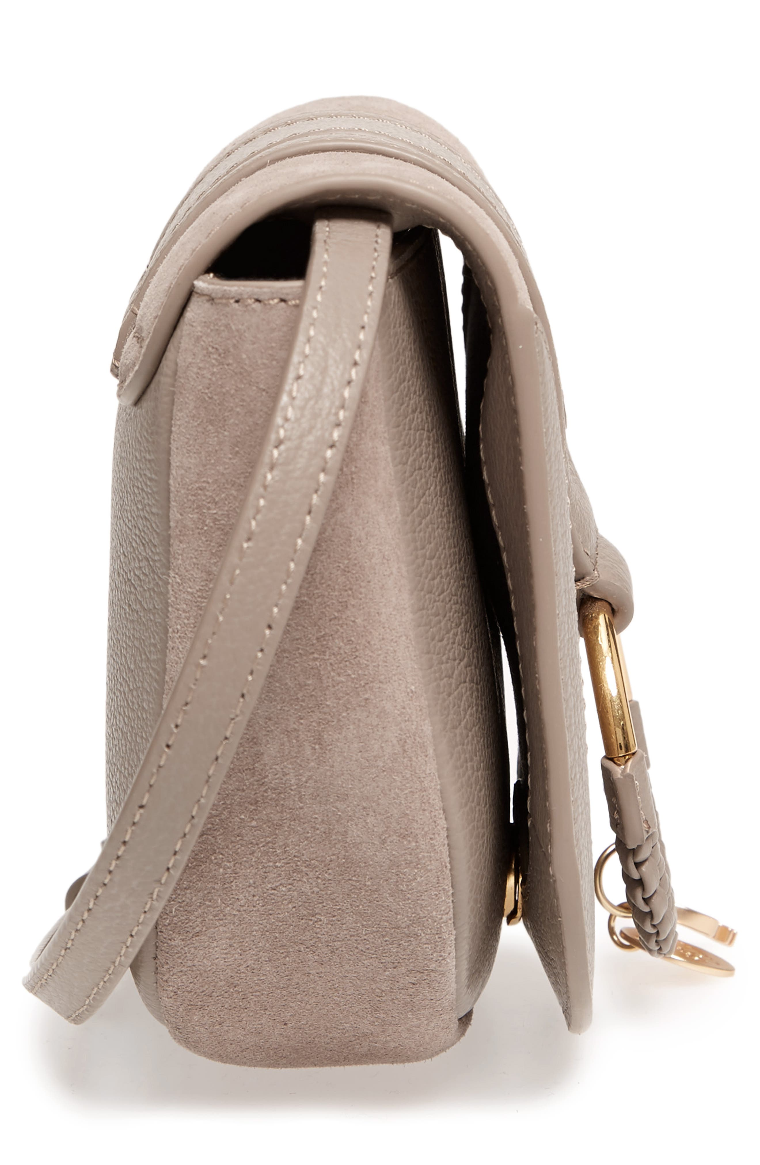 Mini Hana Leather & Suede Crossbody Bag,                             Alternate thumbnail 5, color,                             260