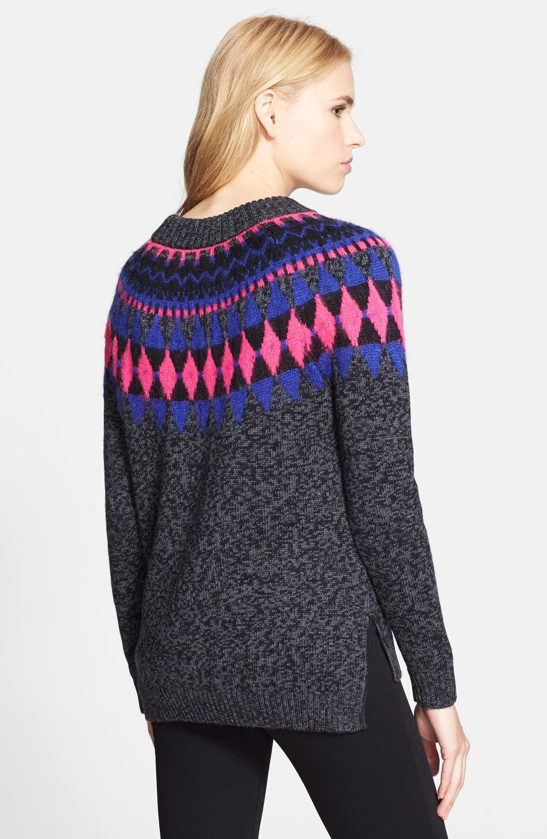 MILLY,                             Graphic Fair Isle Pullover,                             Alternate thumbnail 3, color,                             020