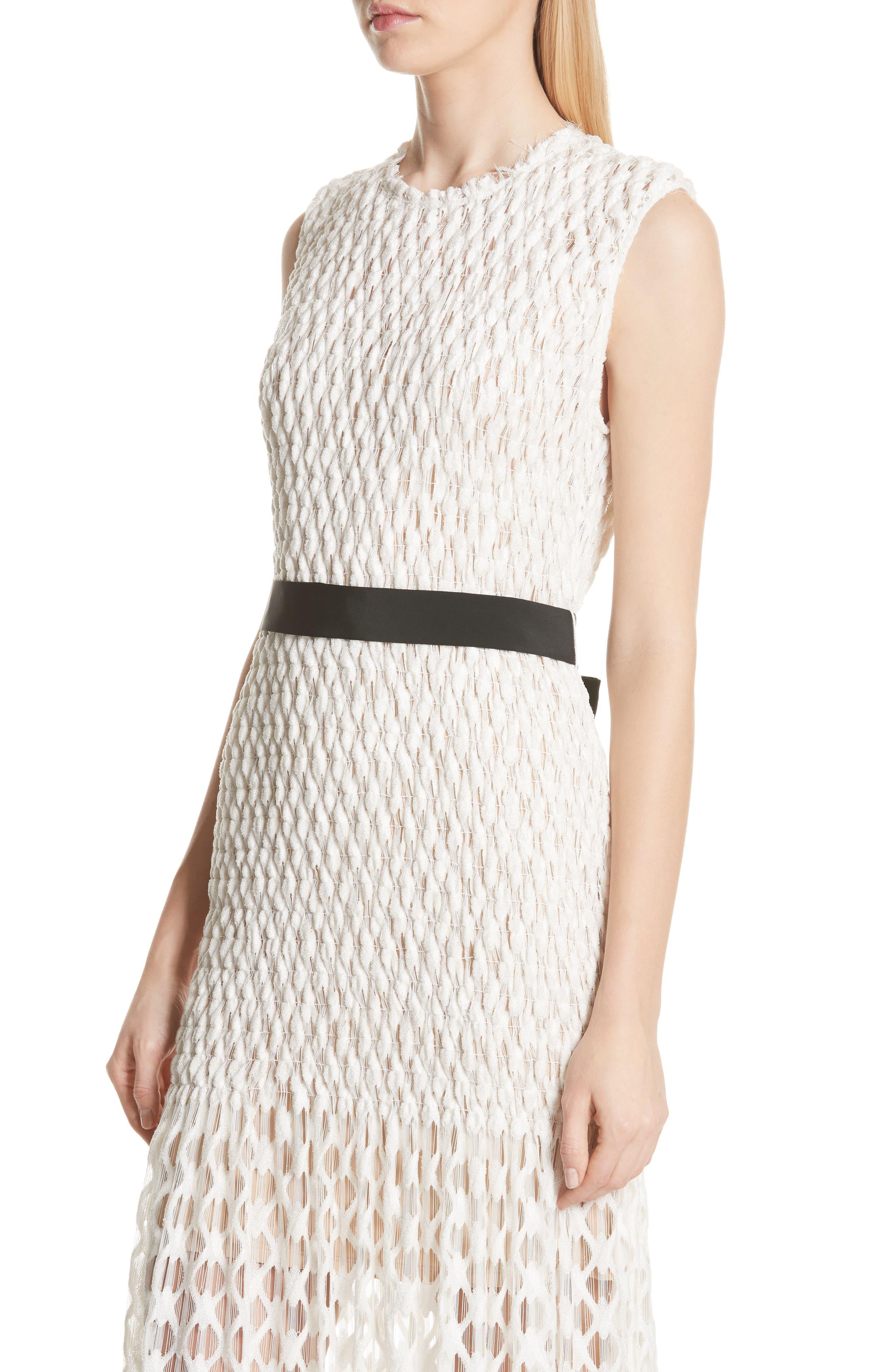 Merge Midi Dress,                             Alternate thumbnail 4, color,                             OFF WHITE