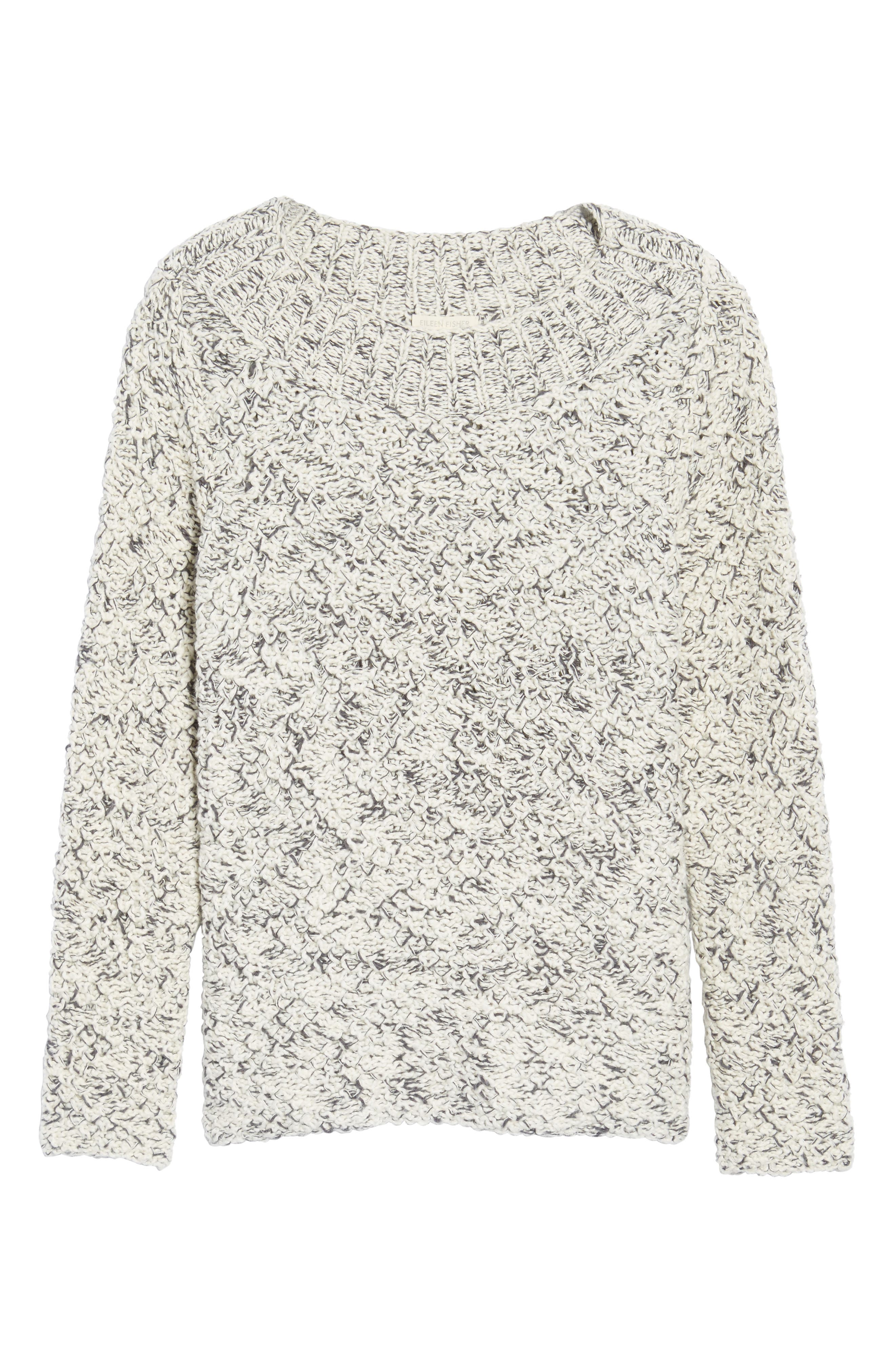 Marled Organic Cotton Sweater,                             Alternate thumbnail 6, color,                             903