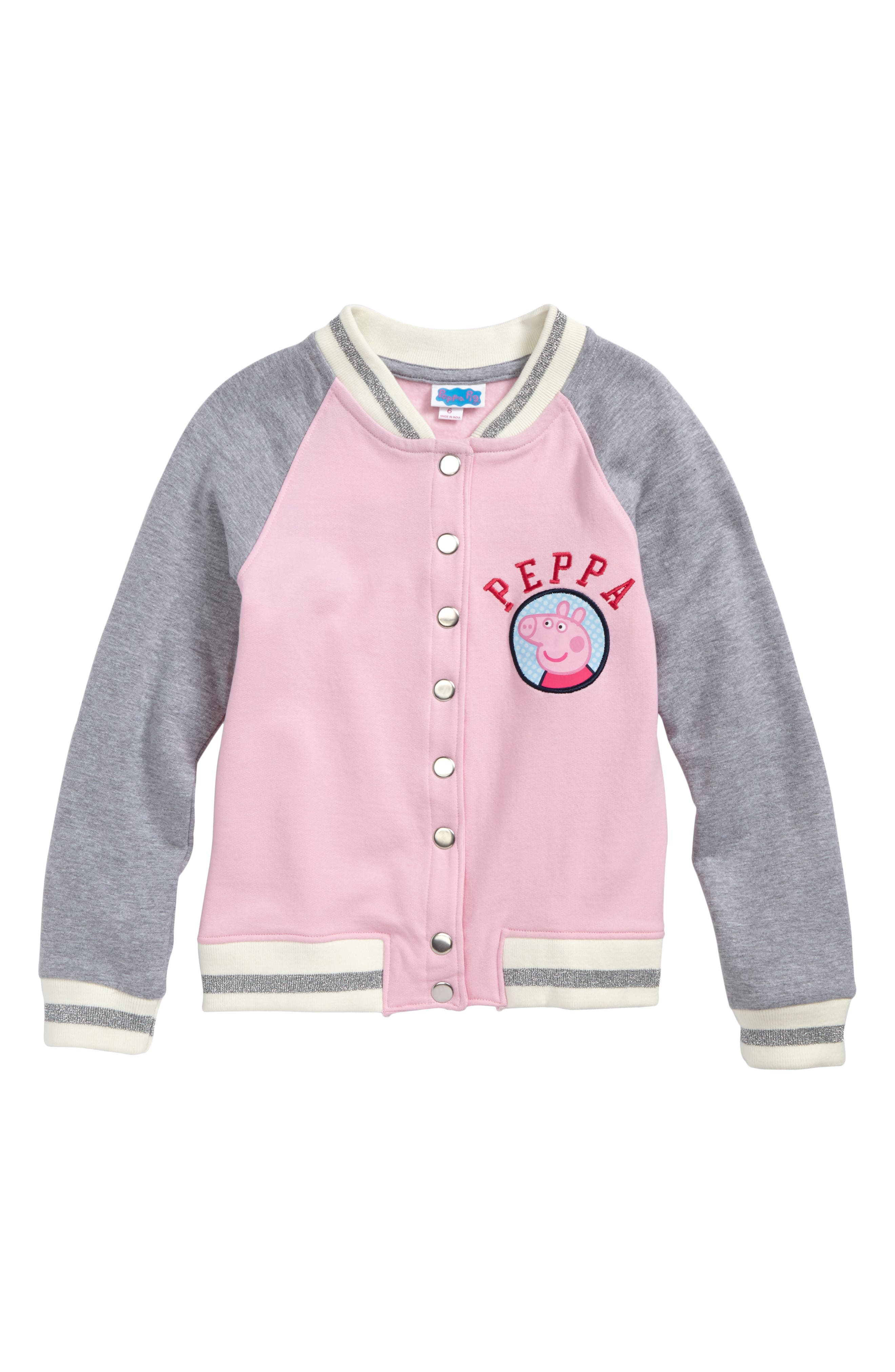 Peppa Pig Varsity Jacket,                             Main thumbnail 1, color,                             650